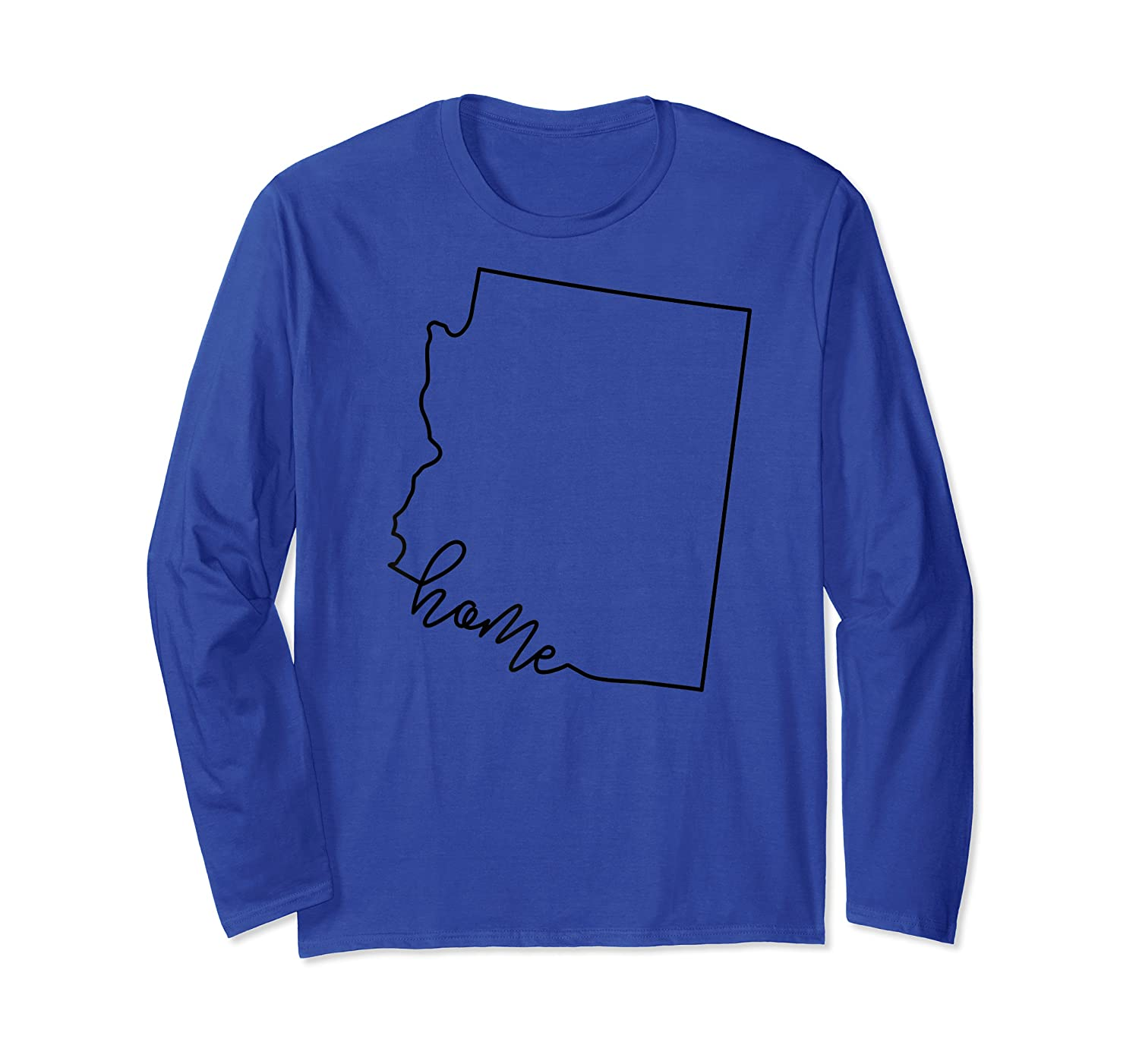 Arizona State Outline With Home Script Acj003a T-shirt Long Sleeve T-shirt