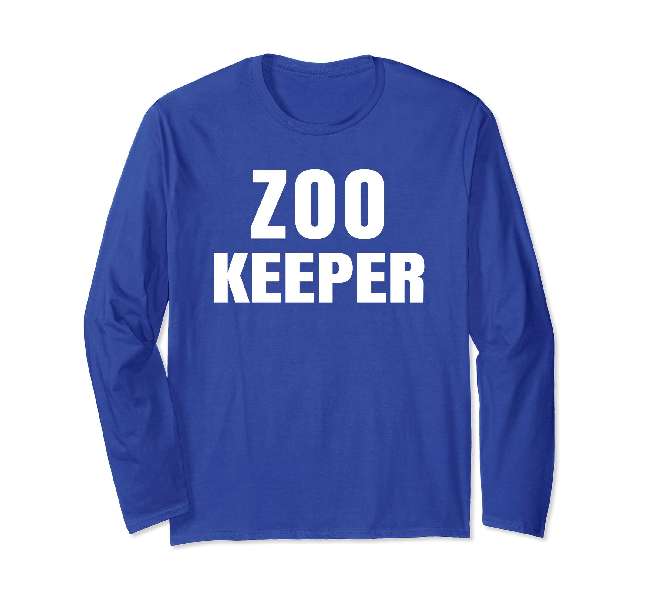 Zoo Keeper Halloween Costume Long Sleeve Shirt-azvn