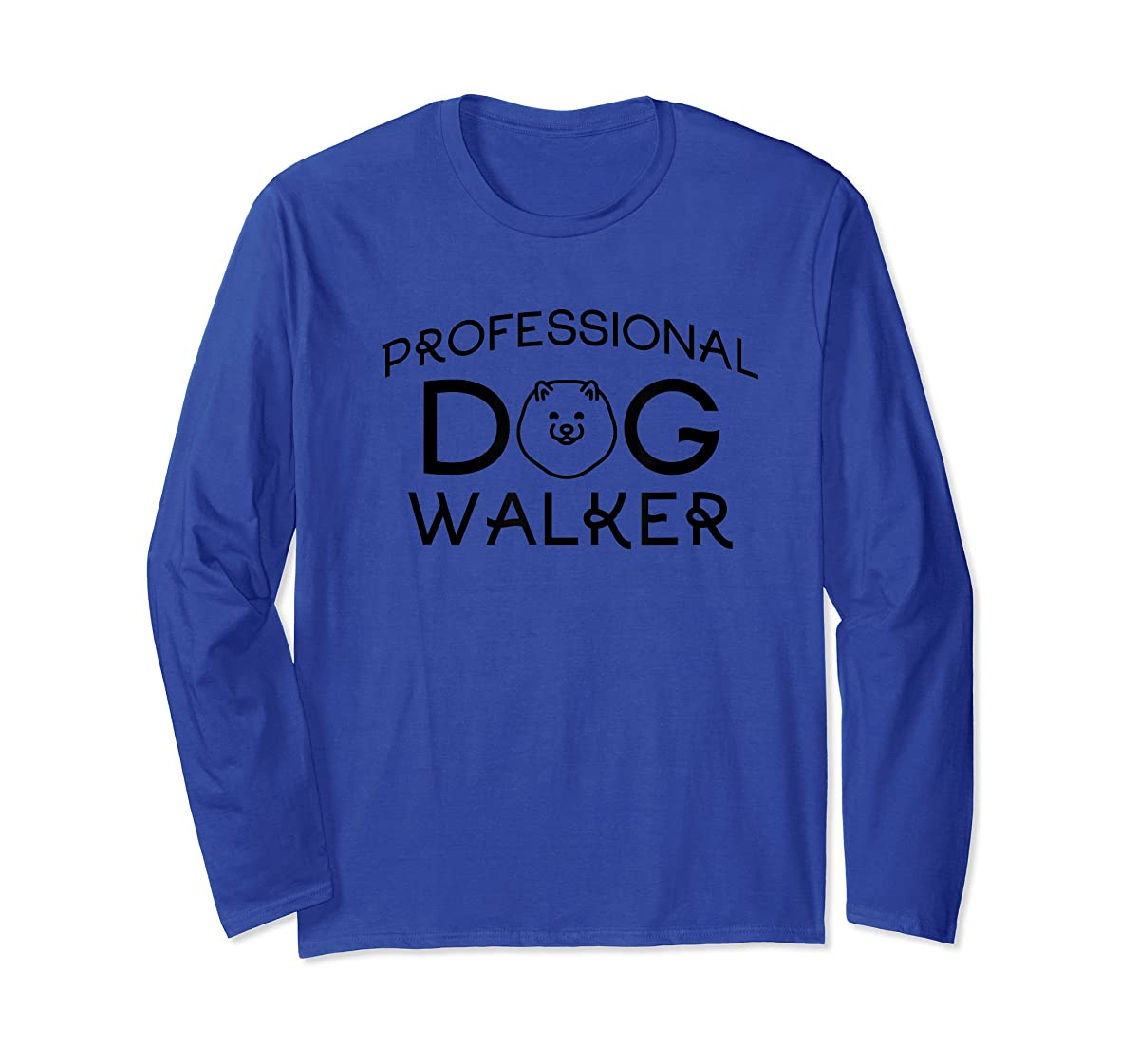 Professional Dog Walker Cute Puppy Tshirt Pet Lover T-Shirt-Long Sleeve-Royal
