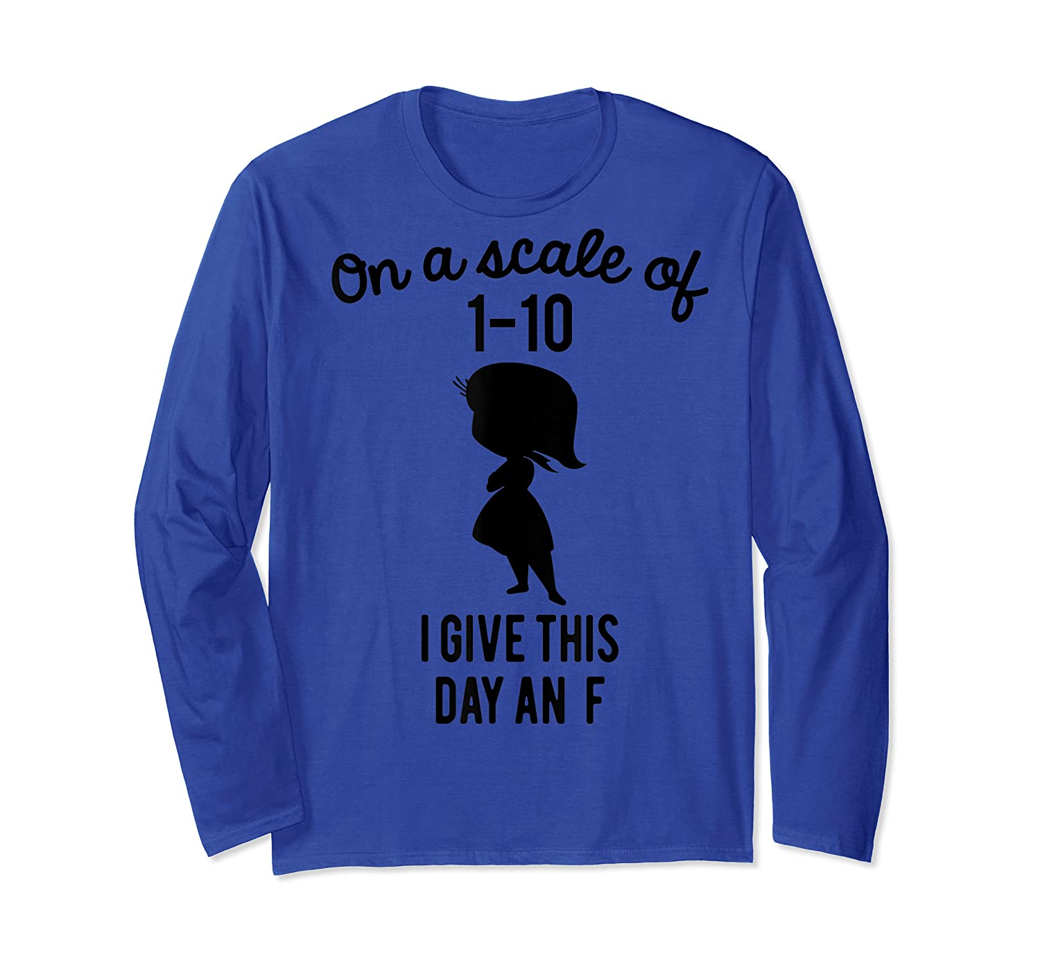Pixar Inside Out Scale Of 1 10 Graphic Shirts Long Sleeve T-shirt