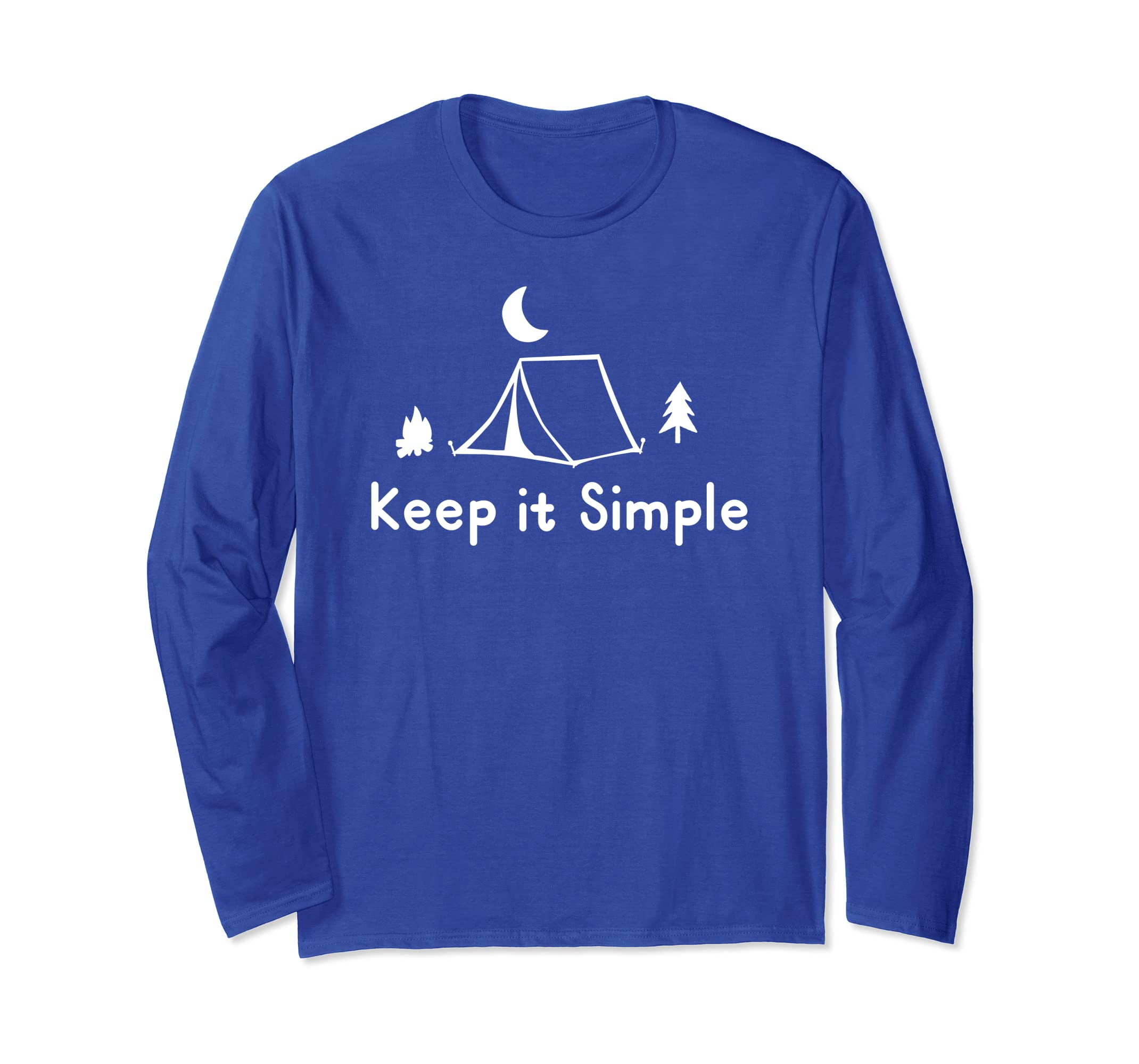 Camping, Tent, Hiking, Nature T shirt / Keep it Simple-ln