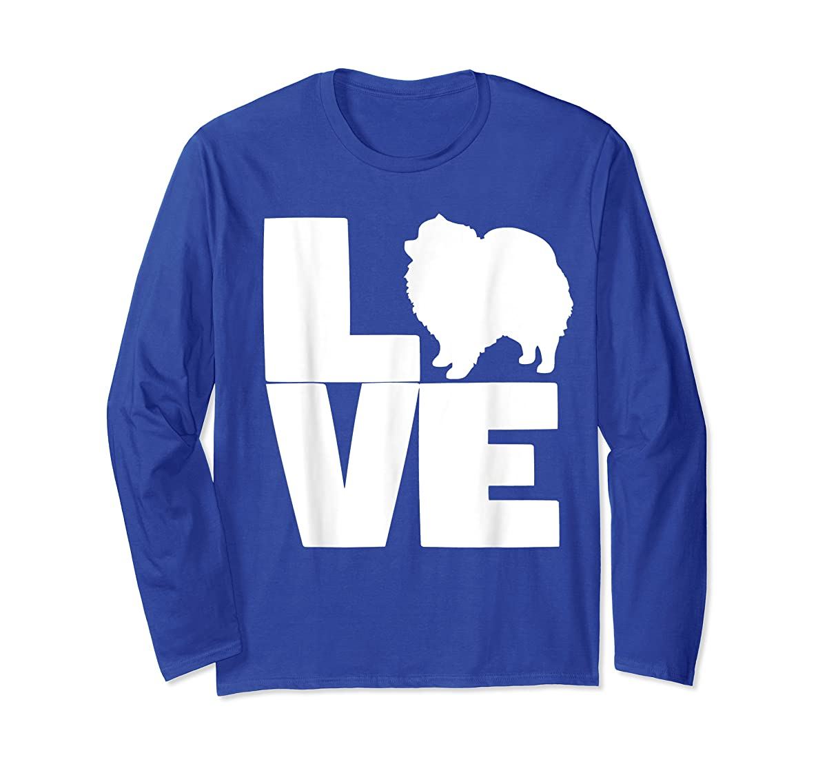 I Love Pomeranians Pom Mom or Dad Pet Lover T Shirt-Long Sleeve-Royal