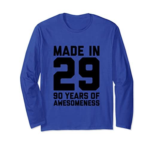 Amazon 90th Birthday Long Sleeve Women 90 Year Old Men Gifts