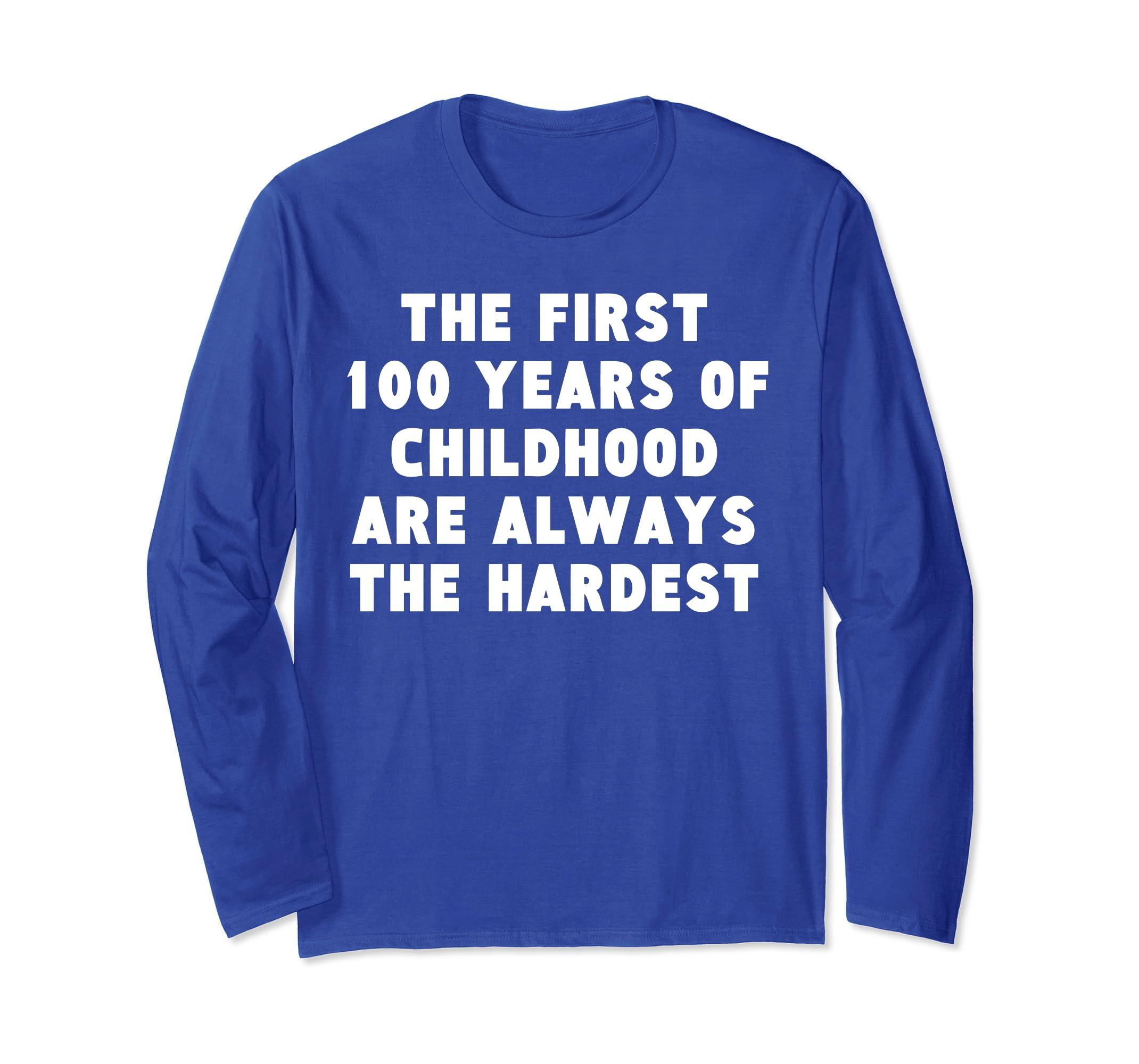 100 Years Of Childhood 100th Birthday Long Sleeve Shirt-ln
