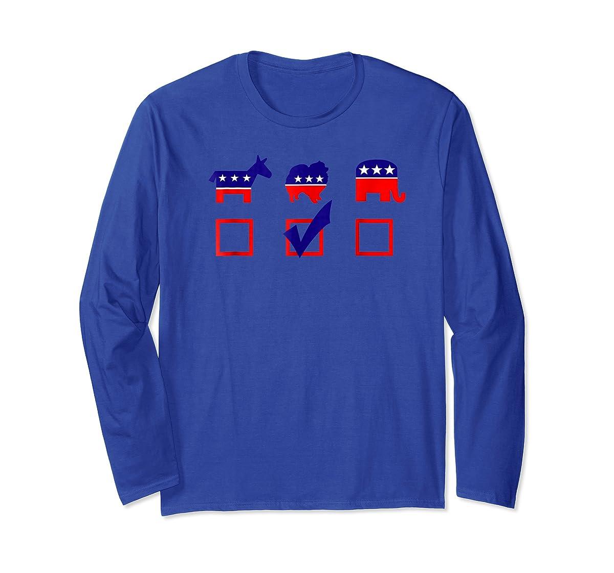 Vote Pomeranian For President T-shirt Cool Dog Lover Shirt-Long Sleeve-Royal