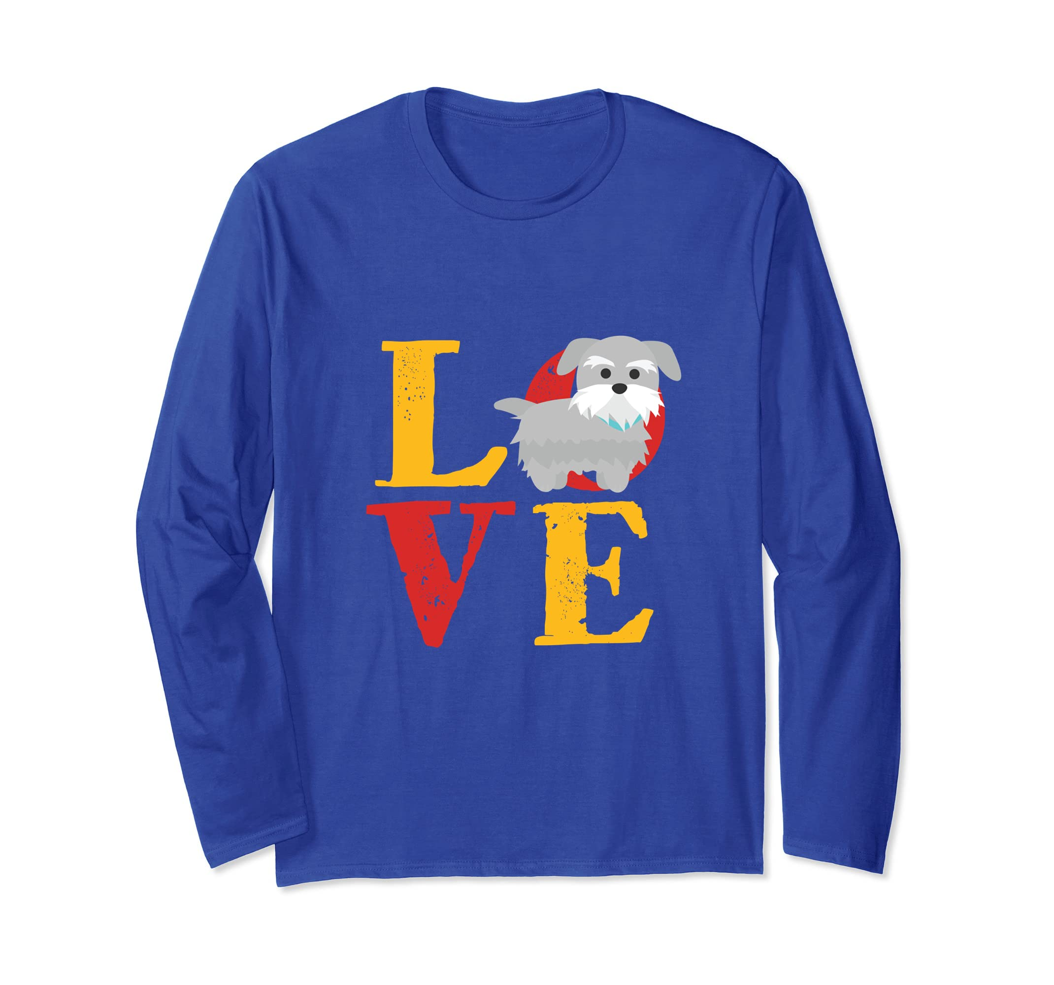 fbd7d9e2 Amazon.com: I Love Miniature Schnauzer Puppy T-shirt Animal Dog Lover:  Clothing