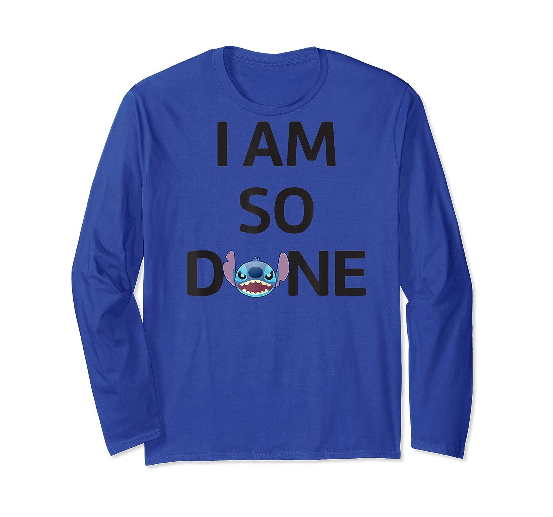 Disney Stitch So Done T Shirt Long Sleeve T-shirt