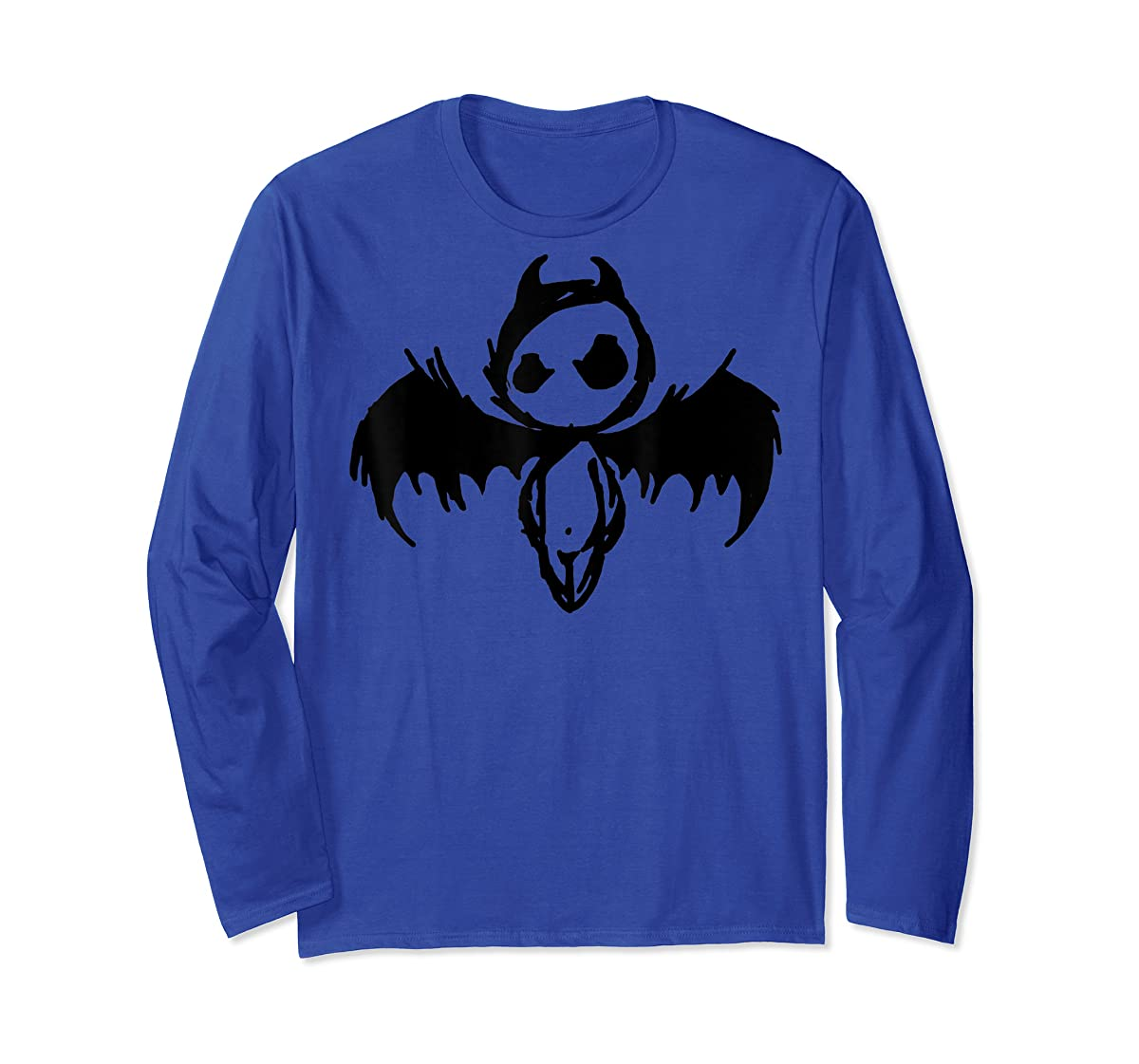 Cute Demon Vintage Couple Matching Halloween Party Costume  T-Shirt-Long Sleeve-Royal