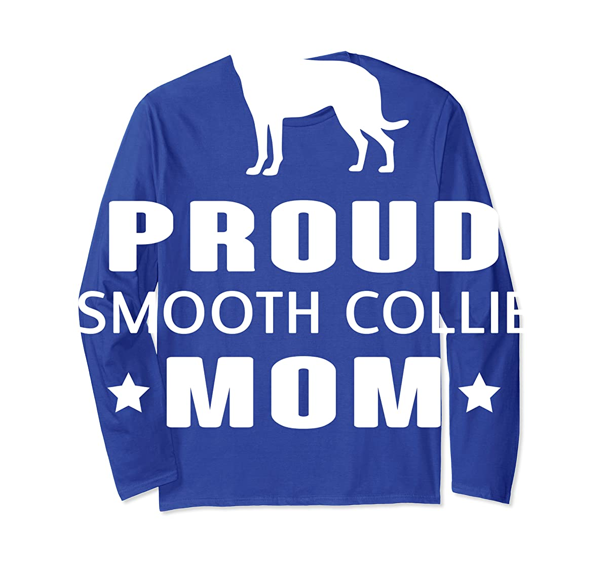 Smooth Collie Funny T-Shirts For Dog Lovers-Long Sleeve-Royal