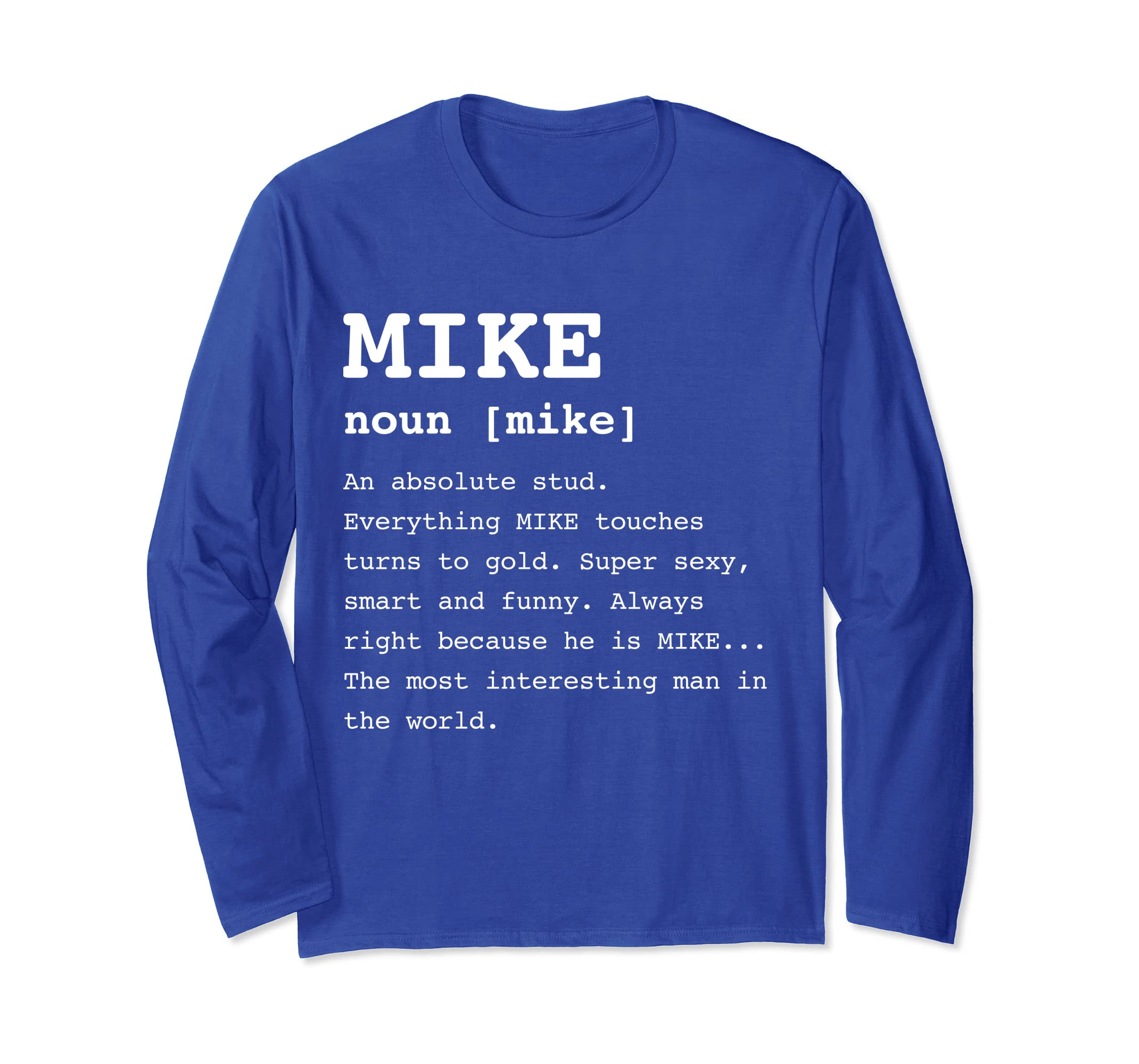 b217d094 Amazon.com: Mike Long Sleeve Shirt for Men Gifts Winter Shirts: Clothing