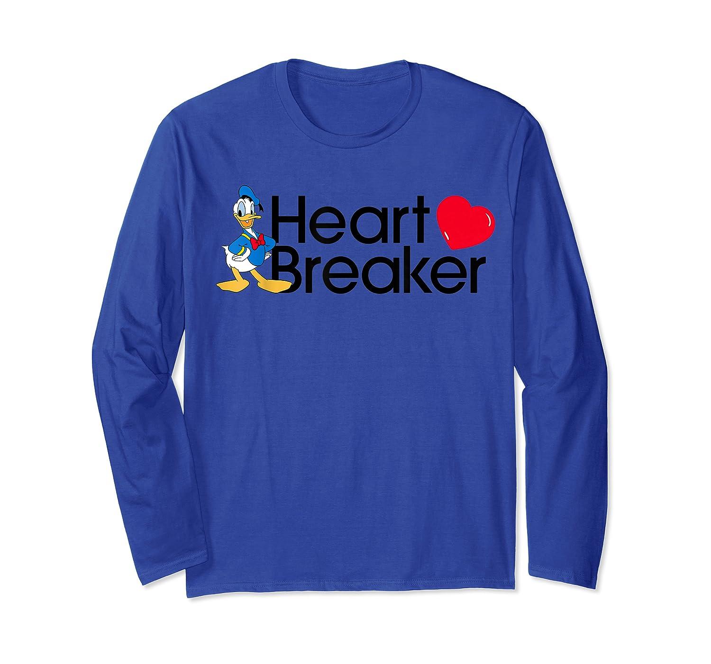 Disney Donald Valentine Heartbreaker T Shirt Long Sleeve T-shirt