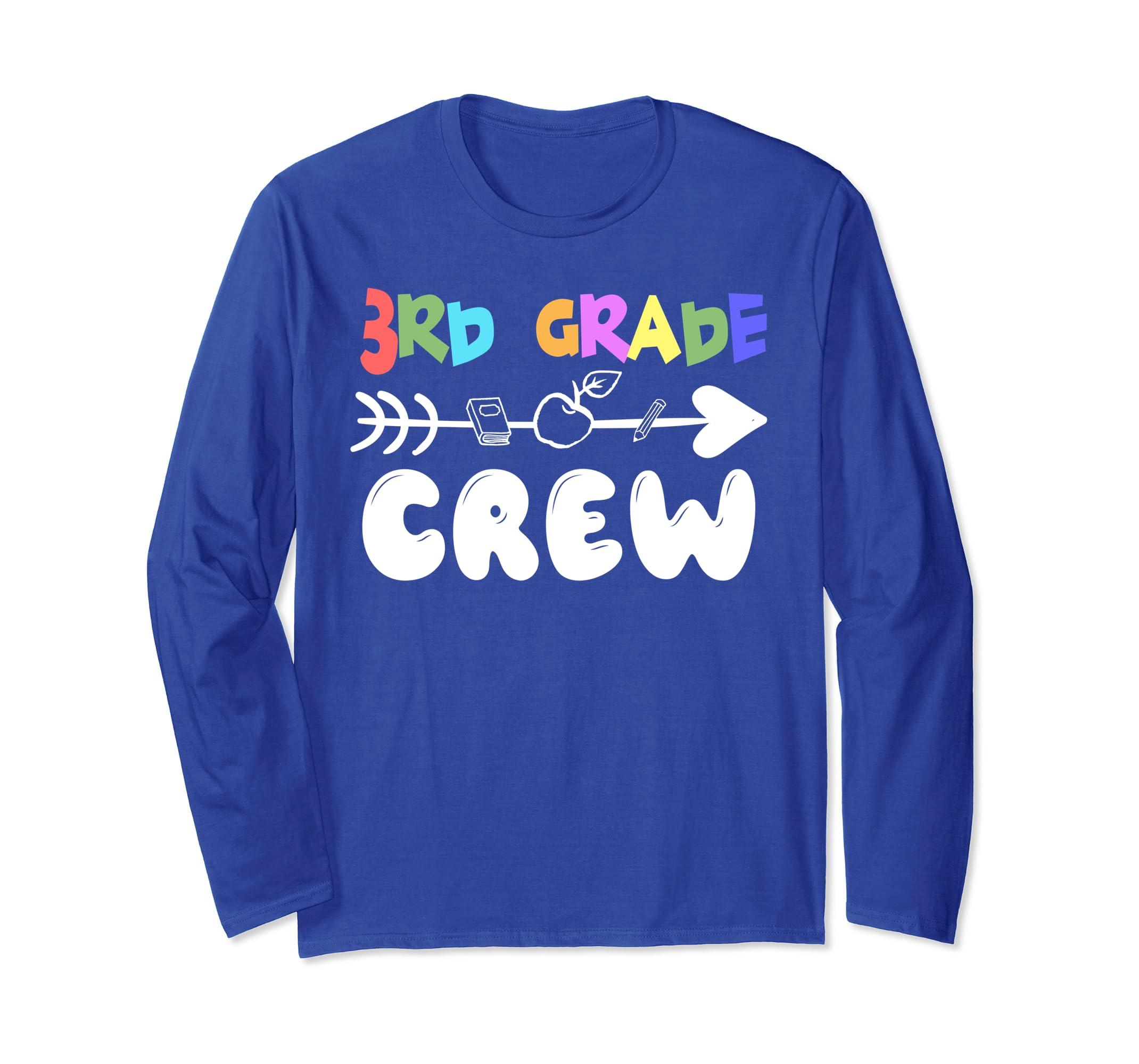 3rd Grade Crew School Novelty Gift Long Sleeve Shirt-ln