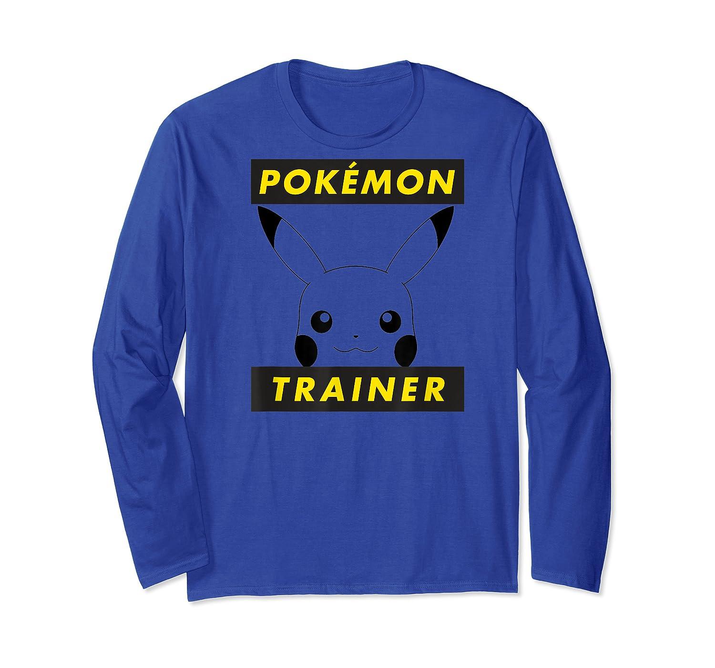 Pokemon Pikachu Trainer T-shirt Long Sleeve T-shirt