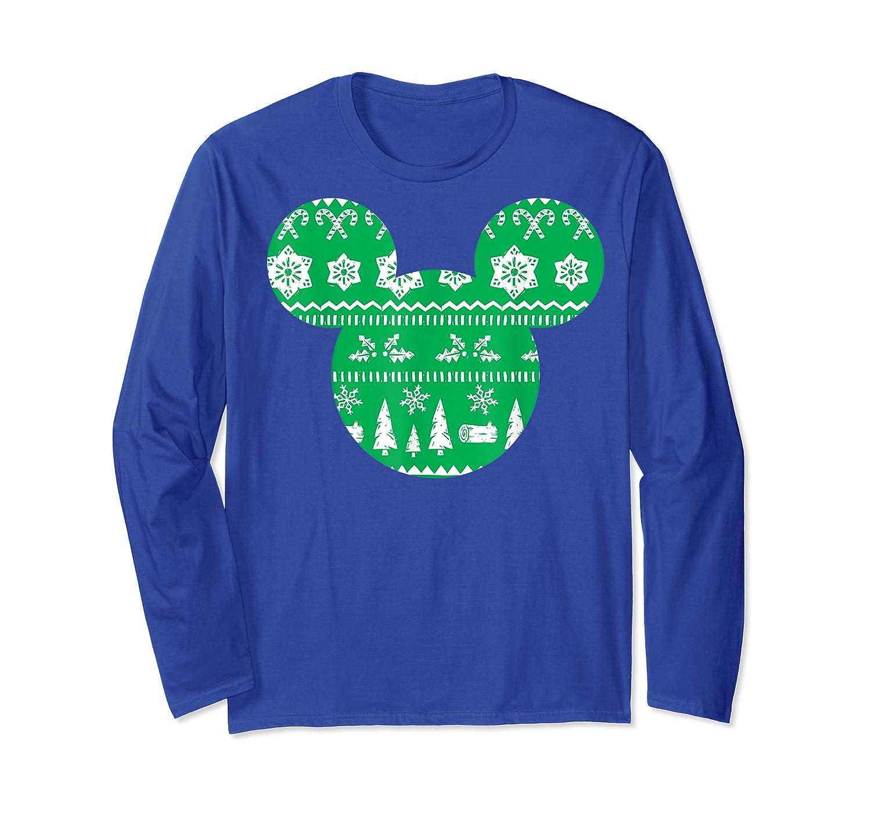 Disney Mickey Christmas Snowflakes T Shirt Long Sleeve T-shirt