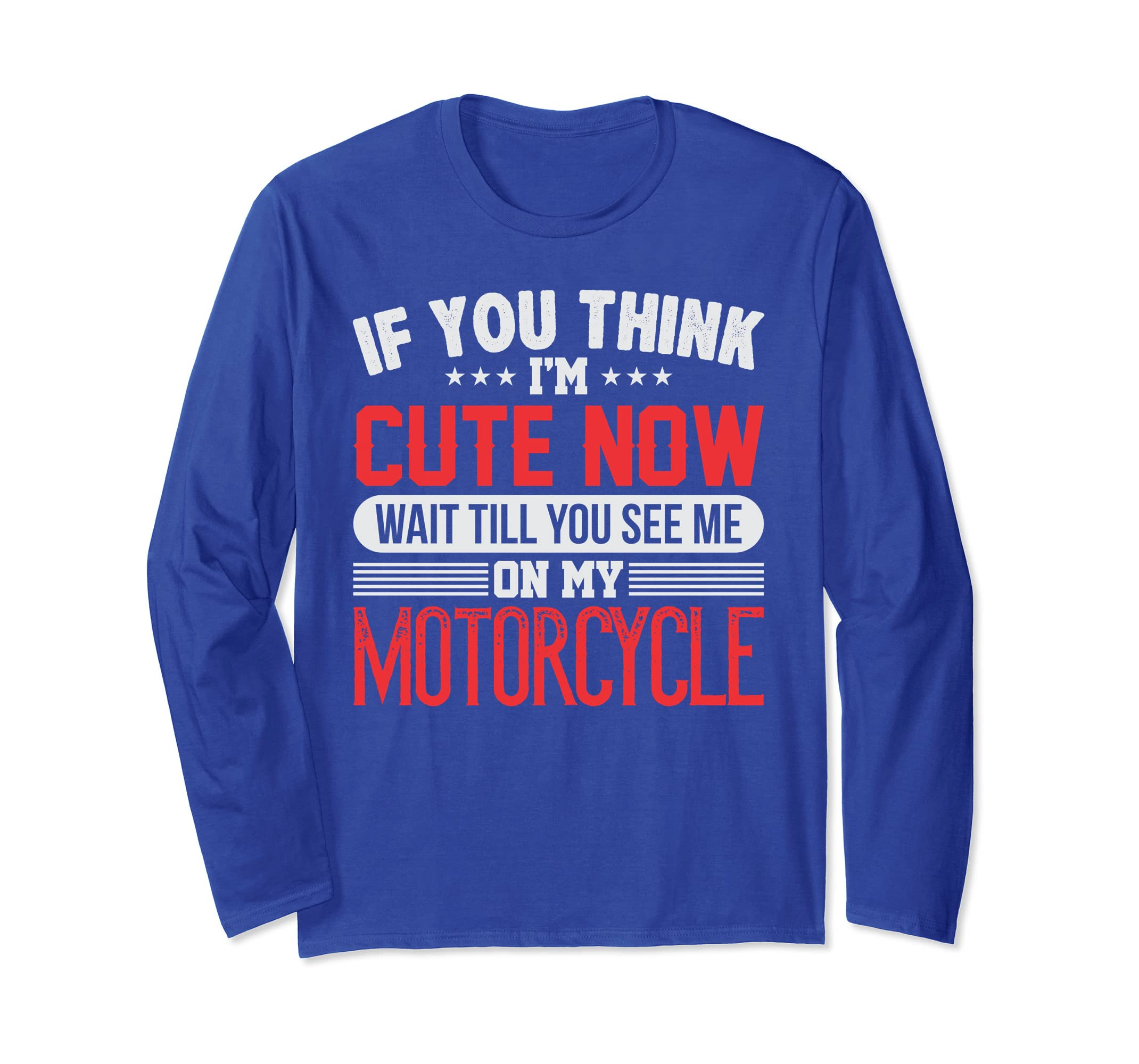 Cute Motorcycle Rider Long Sleeve T-shirt-SFL
