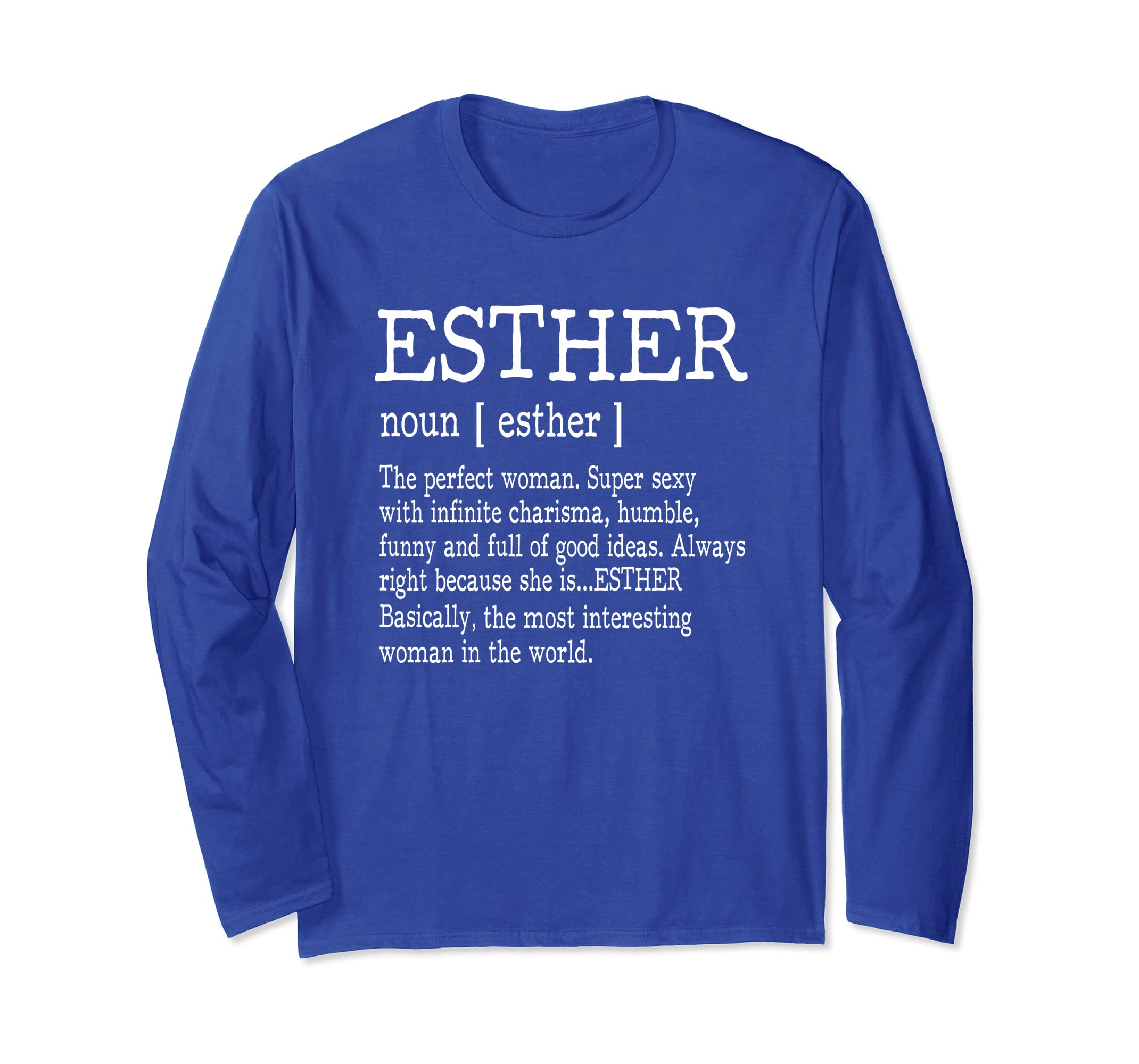 Adult Definition First Name Esther Ladies T Shirt Funny-ln ...