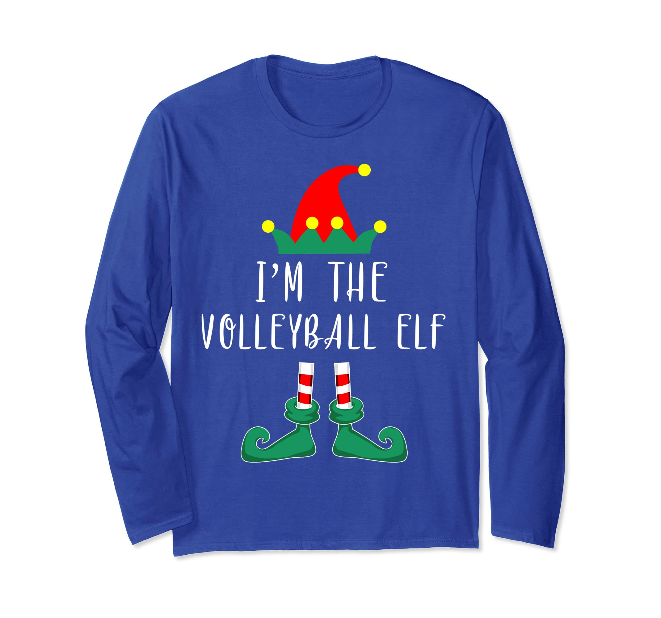 I'm The Volleyball Elf Matching Family Christmas Long Sleeve-azvn