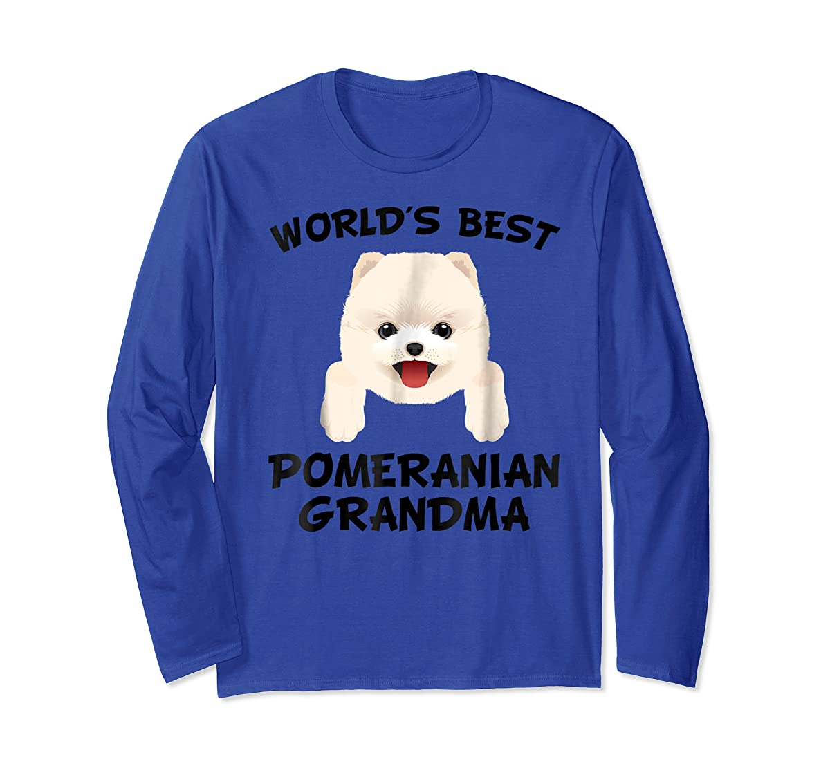 World's Best Pomeranian Grandma Dog Granddog T-Shirt-Long Sleeve-Royal