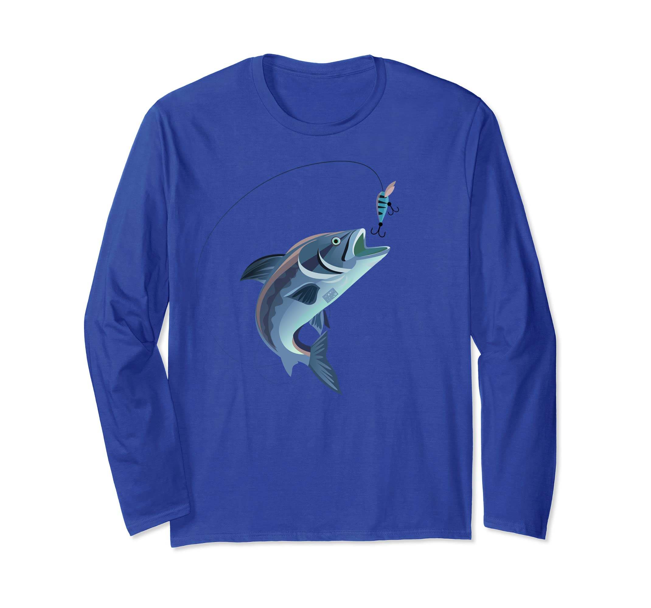 SIMPLE RAINBOW TROUT JUMPING CATCH LUCKY FISHING LONG SLEEVE-ln