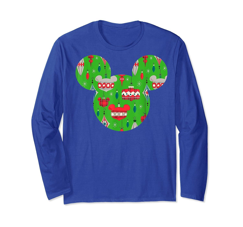 Disney Mickey Christmas Ornats T Shirt Long Sleeve T-shirt