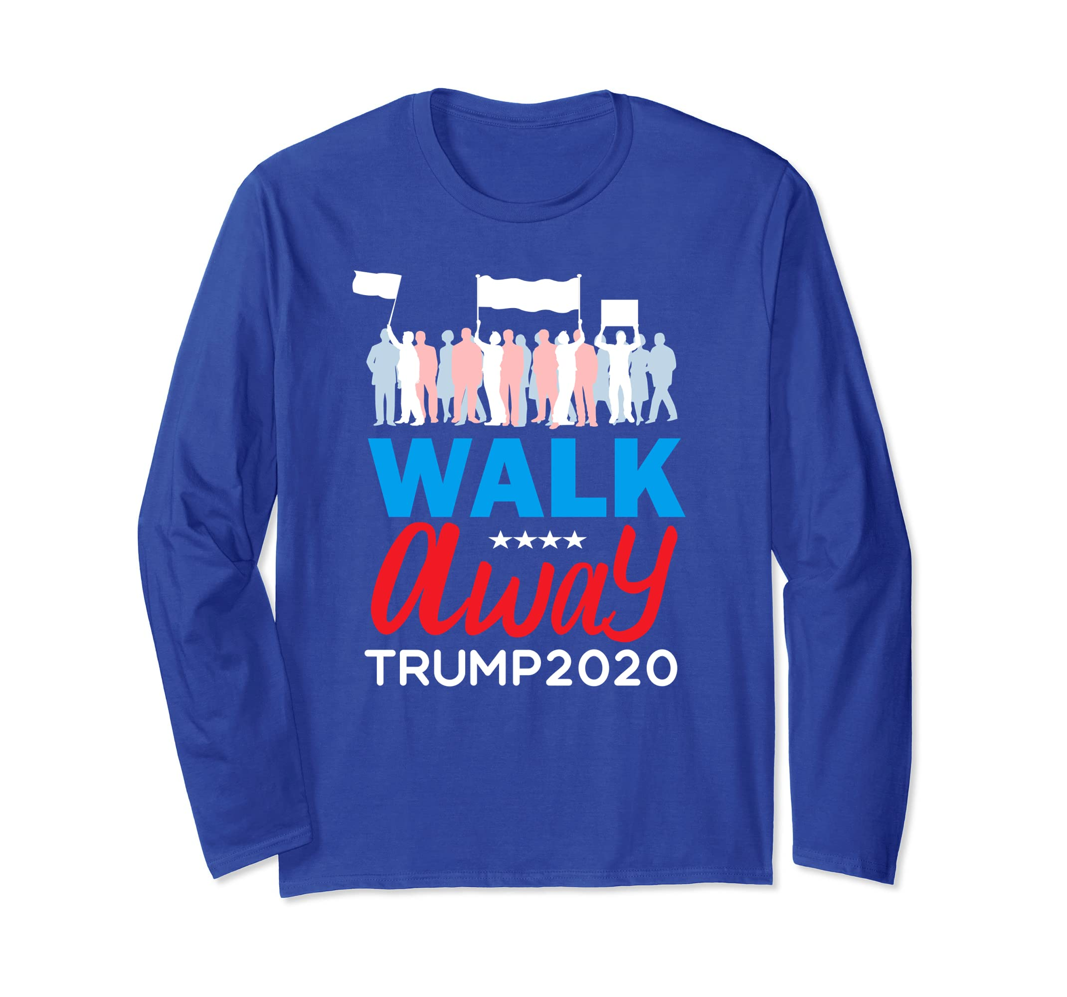 Walk Away from Hate No Hate Hashtag Rally Long Sleeve tShirt-azvn