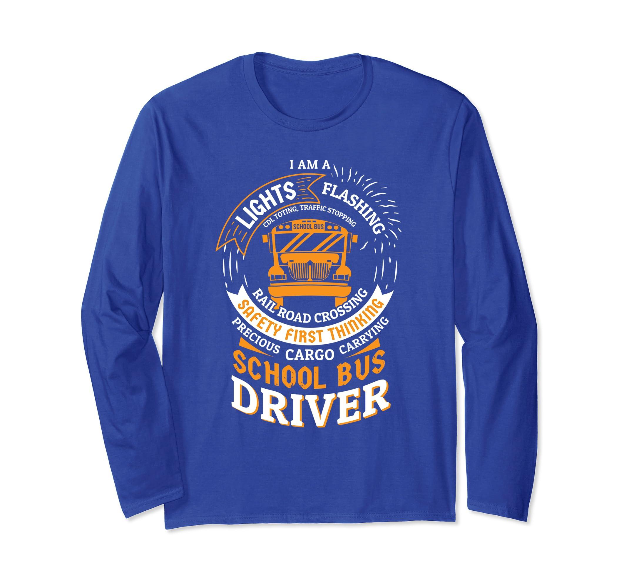 Funny Yellow School Bus Driver Long Sleeve Shirt | Gift-azvn