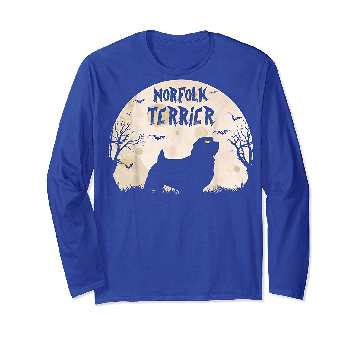 Halloween Horror Norfolk Terrier T-Shirt-Long Sleeve-Royal