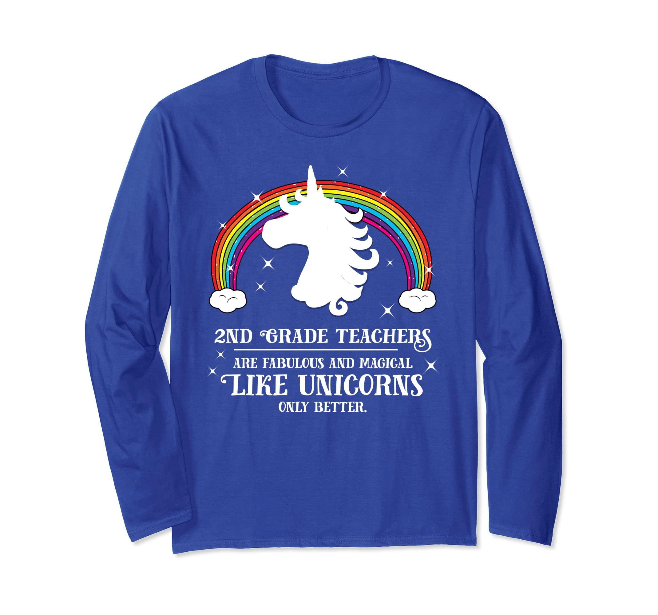 2nd Grade Teachers Fabulous Unicorn Longsleeve TShirt Second-ln