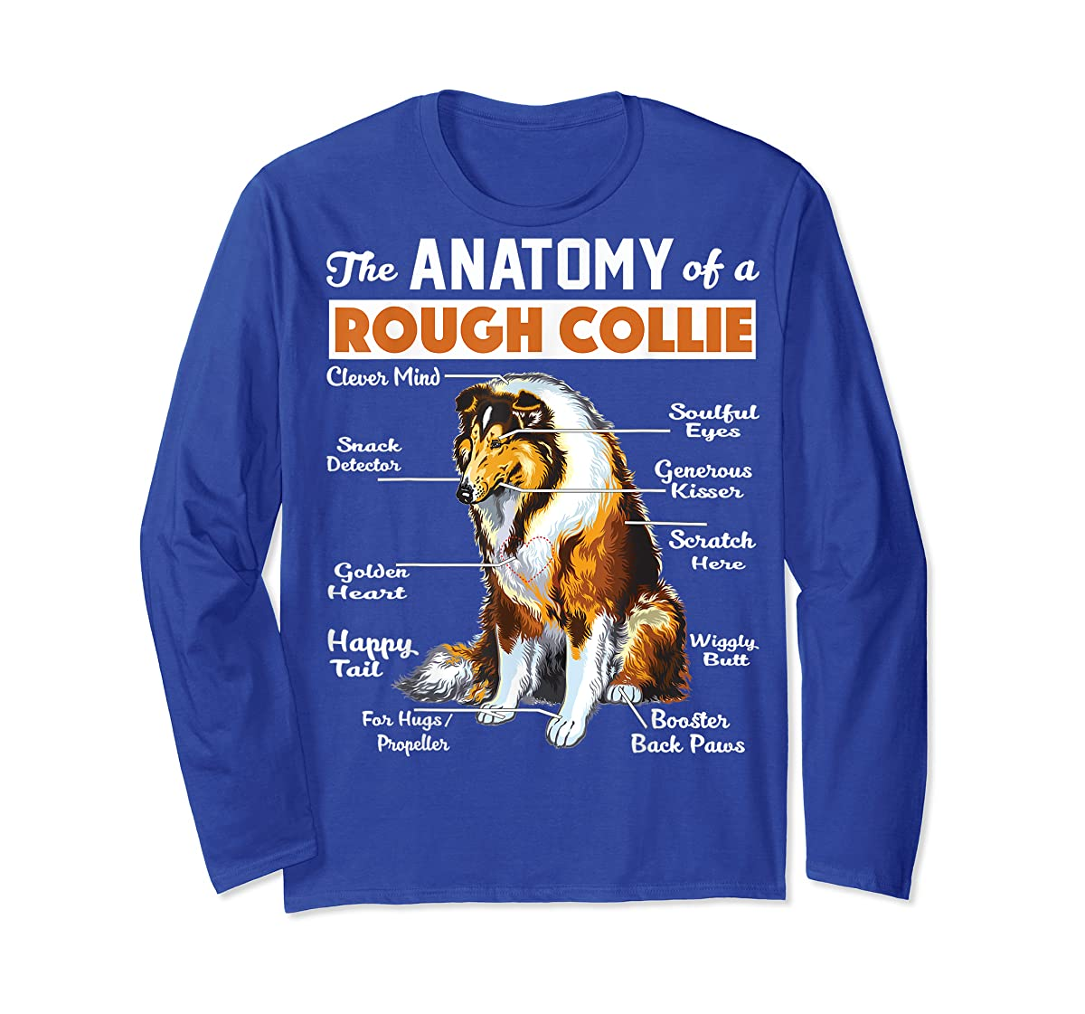 The Anatomy Of A Rough Collie-Long Sleeve-Royal