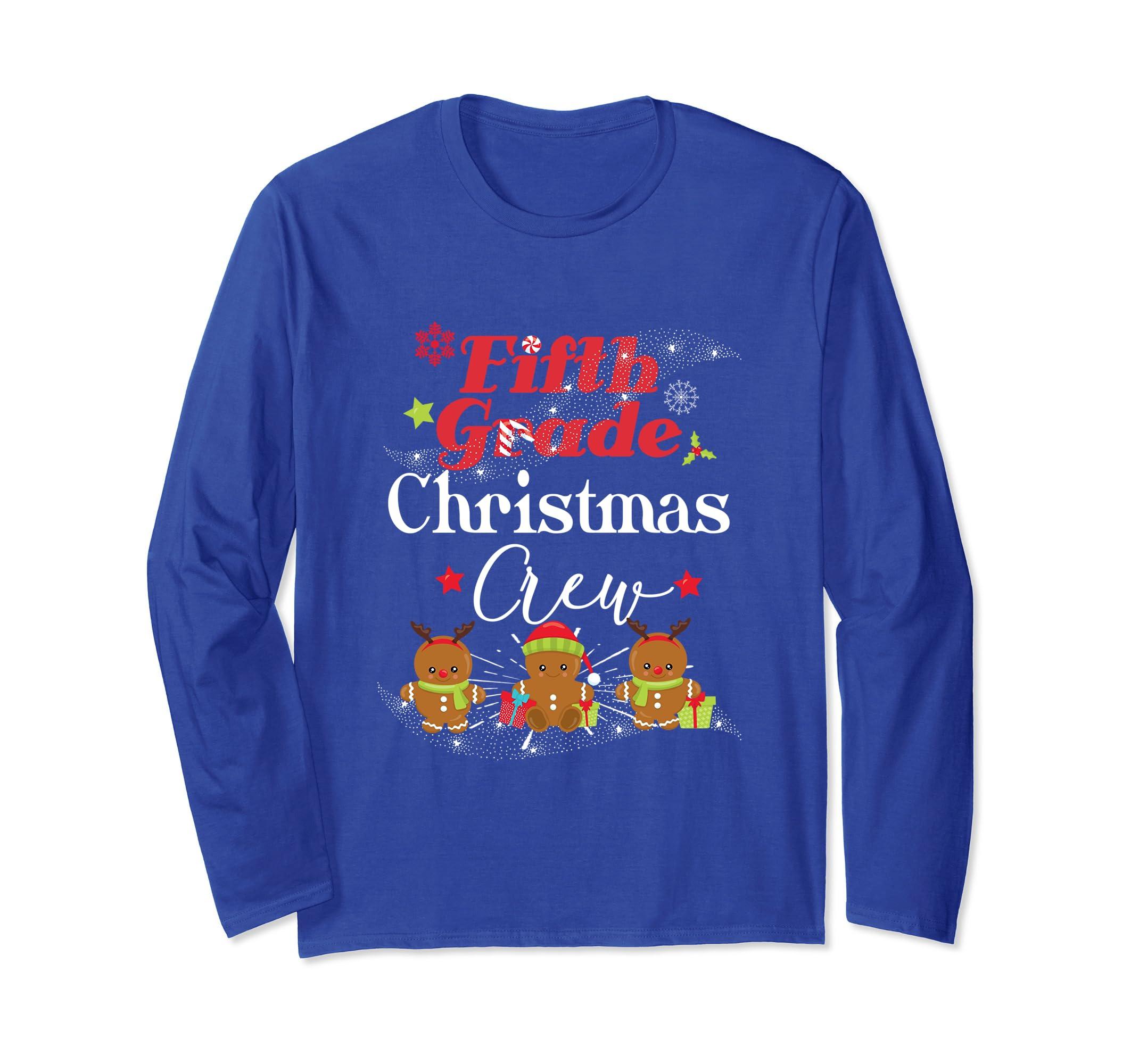 5th Grade Christmas Crew Teacher Gift Longsleeve Shirt-ln