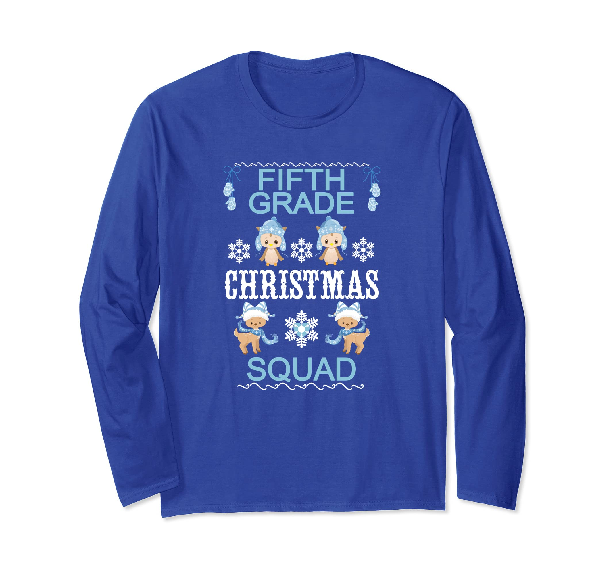 5th Grade Christmas Squad Teacher Longsleeve Shirt-ln