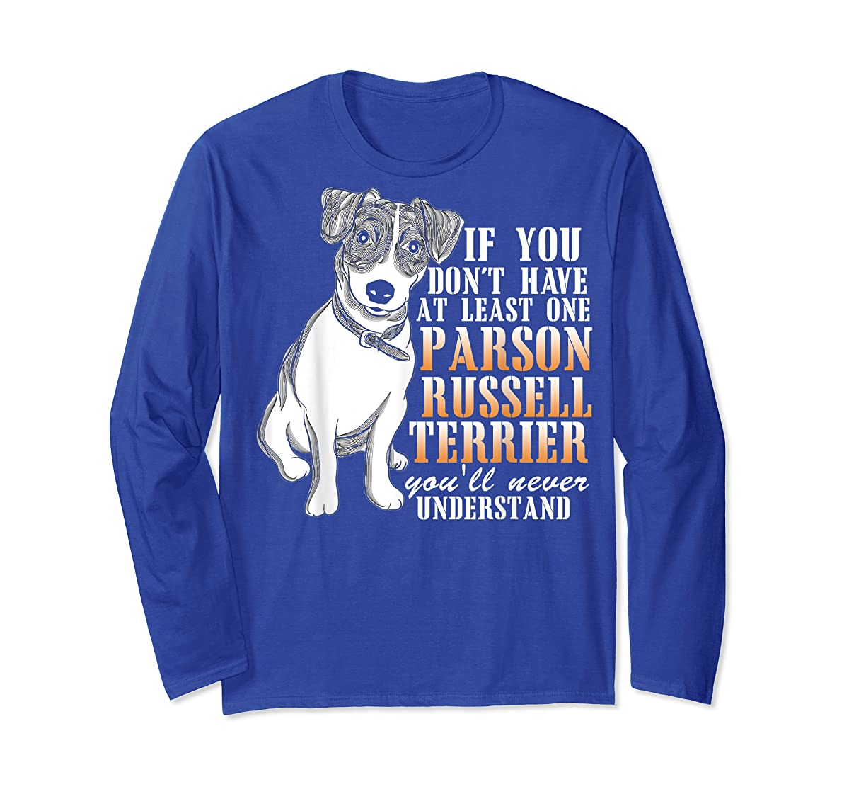 Parson Russell Terrier T Shirt, I Love My Dog T Shirt-Long Sleeve-Royal