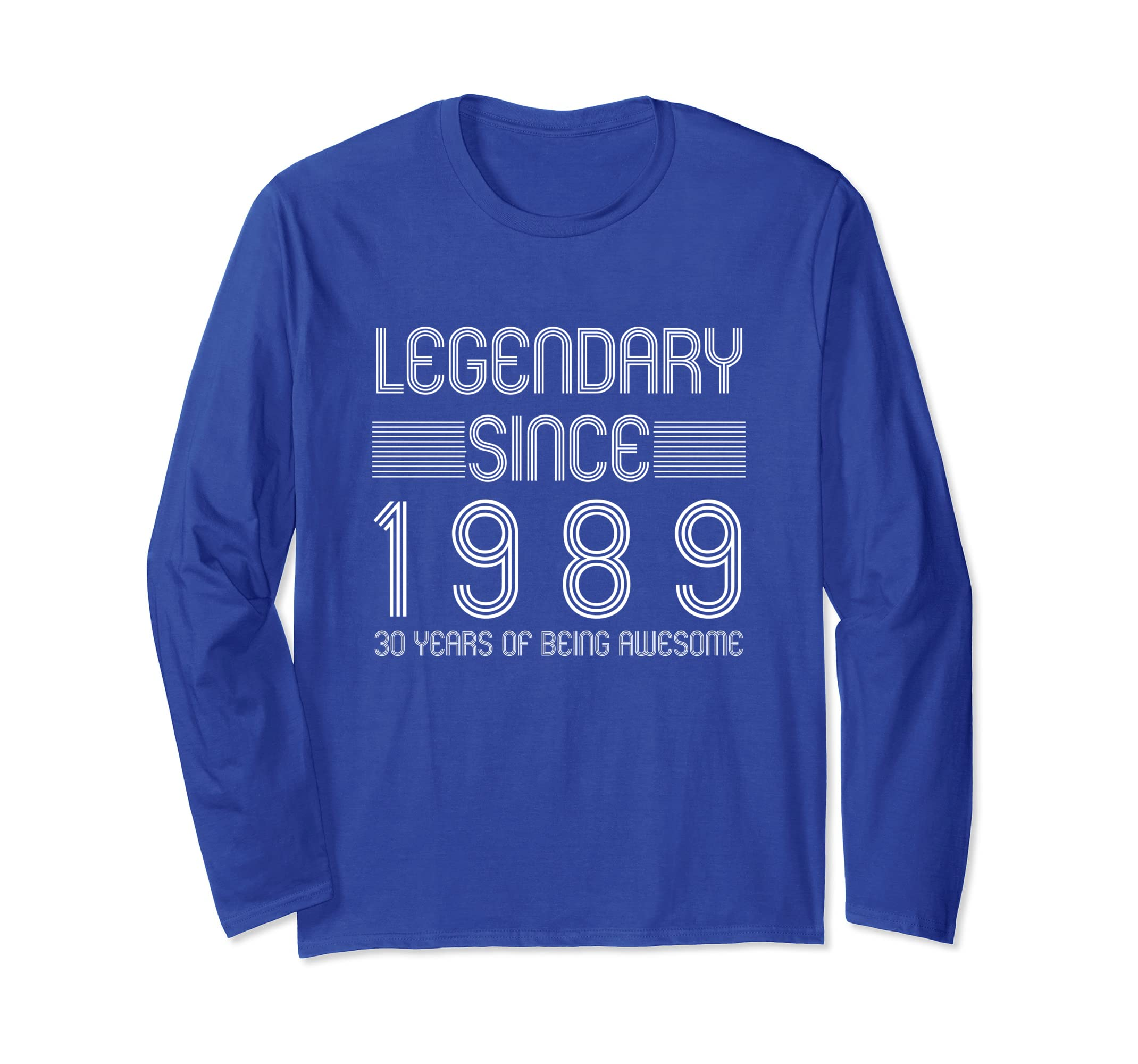 1f61b47f1 Amazon.com: 30th Birthday Long Sleeve Shirt - 30 Years Of Being Awesome:  Clothing