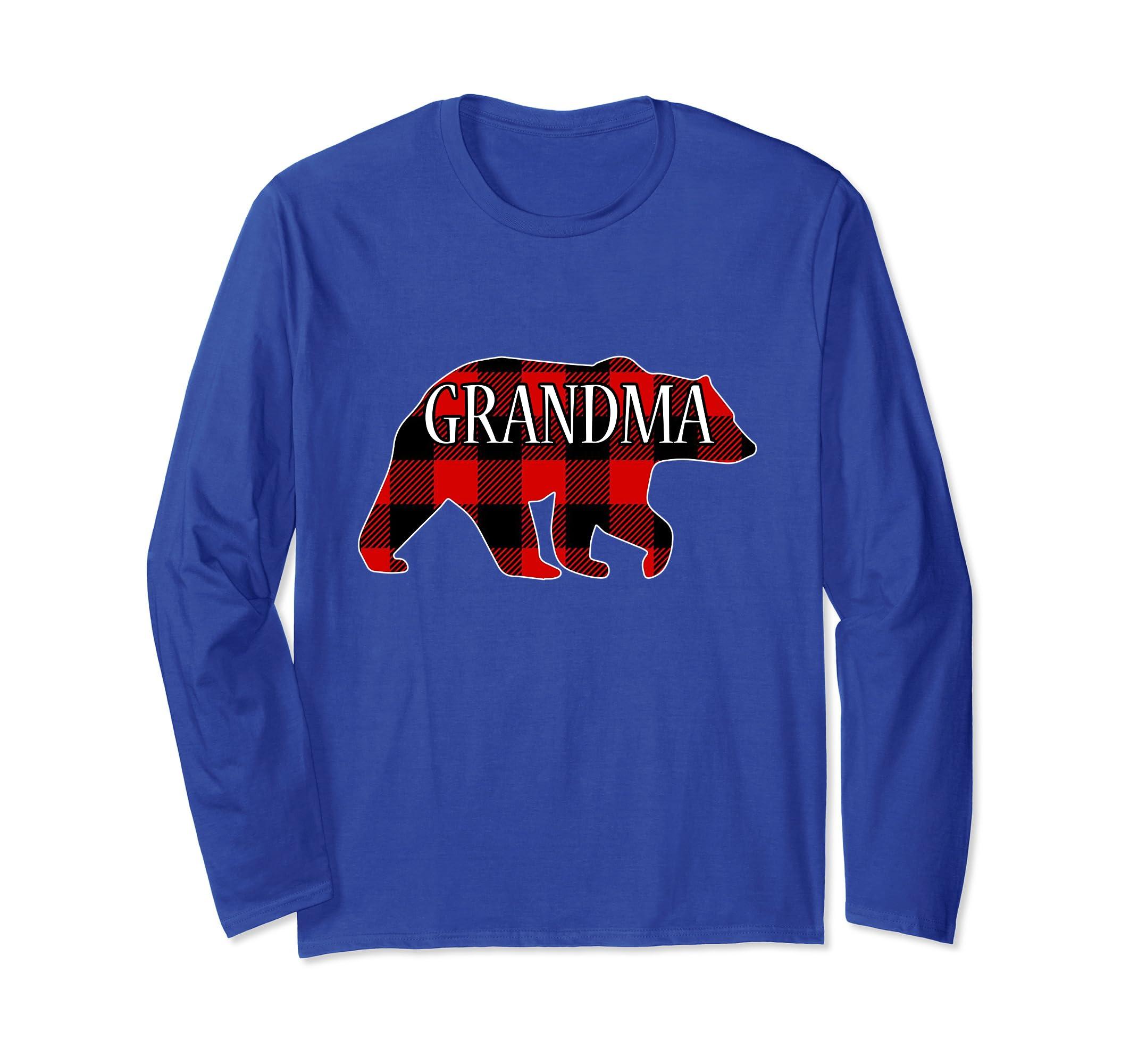 362119fed Amazon.com  Red Plaid Grandma Bear Matching Buffalo Family Pajama ...