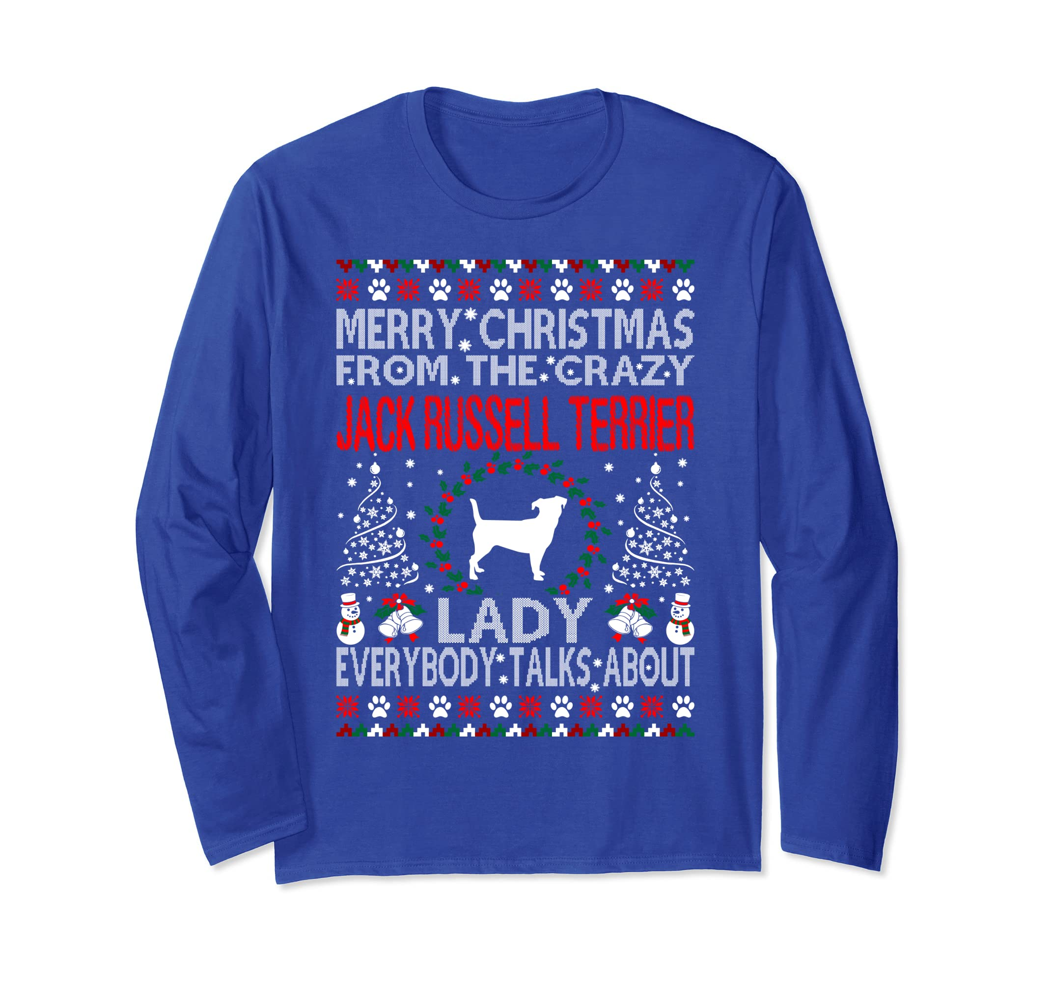 Christmas Jack Russell Terrier Dog Lady Ugly Sweater Tshirt-SFL