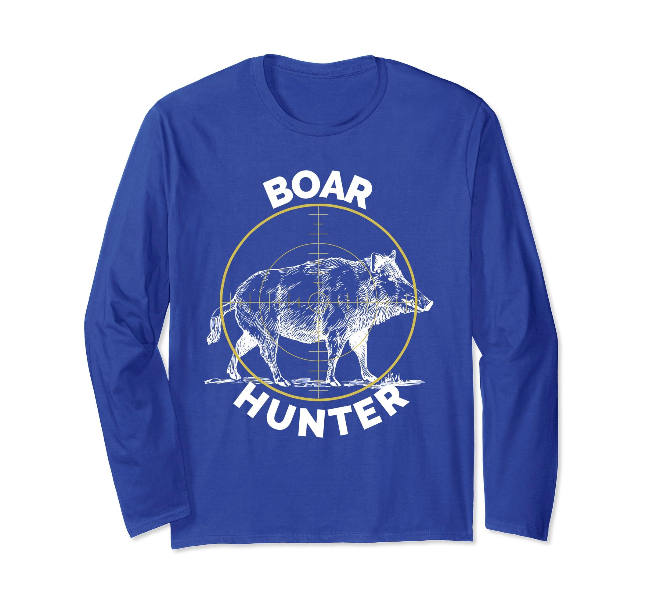Boar Hunter Hog Hunting Sight Long Sleeve T Shirt Wild Pig-ln