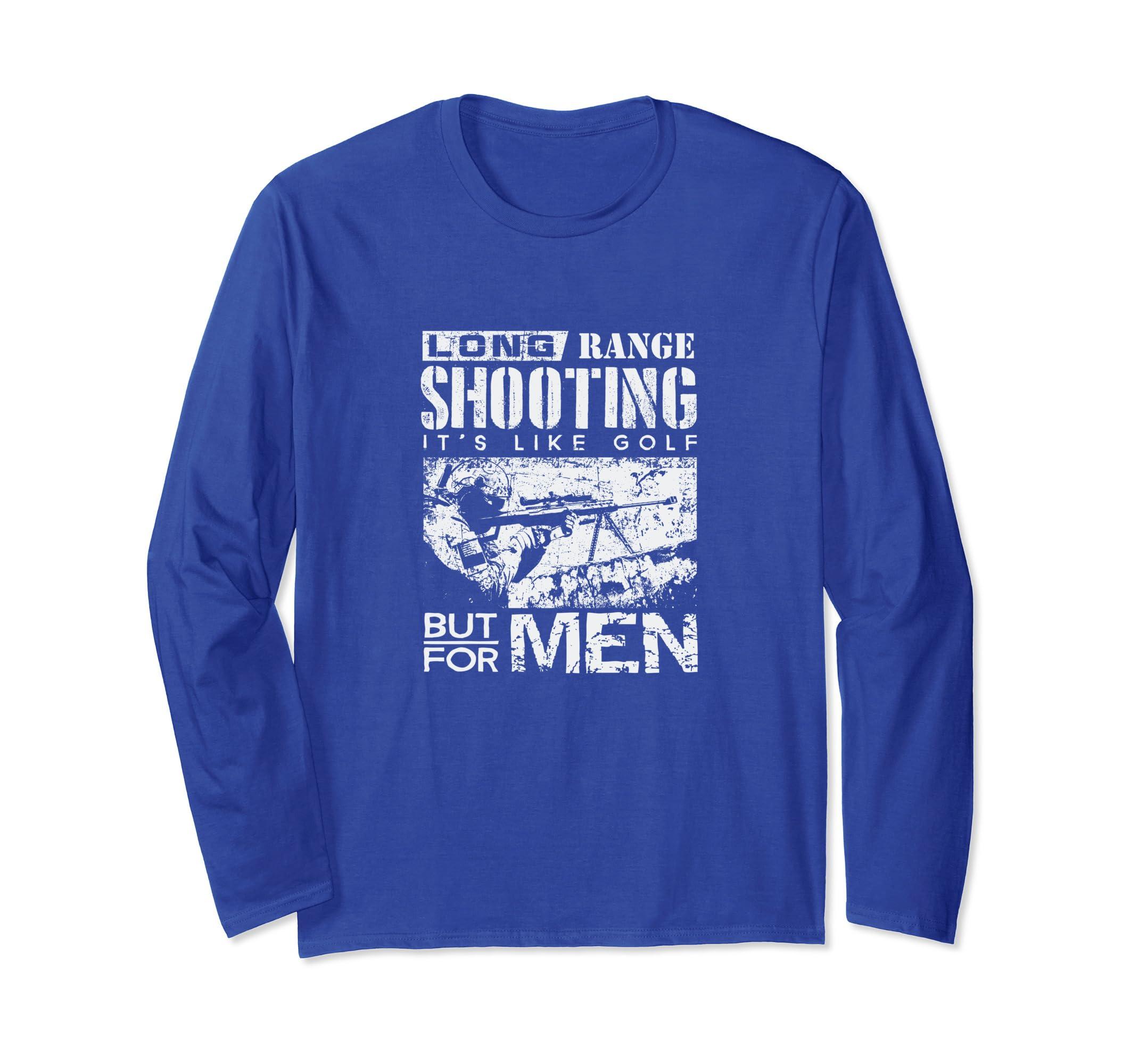 292d62ea1 Amazon.com: Long range Shooting Like golf Funny Veteran Shooter T Shirt:  Clothing