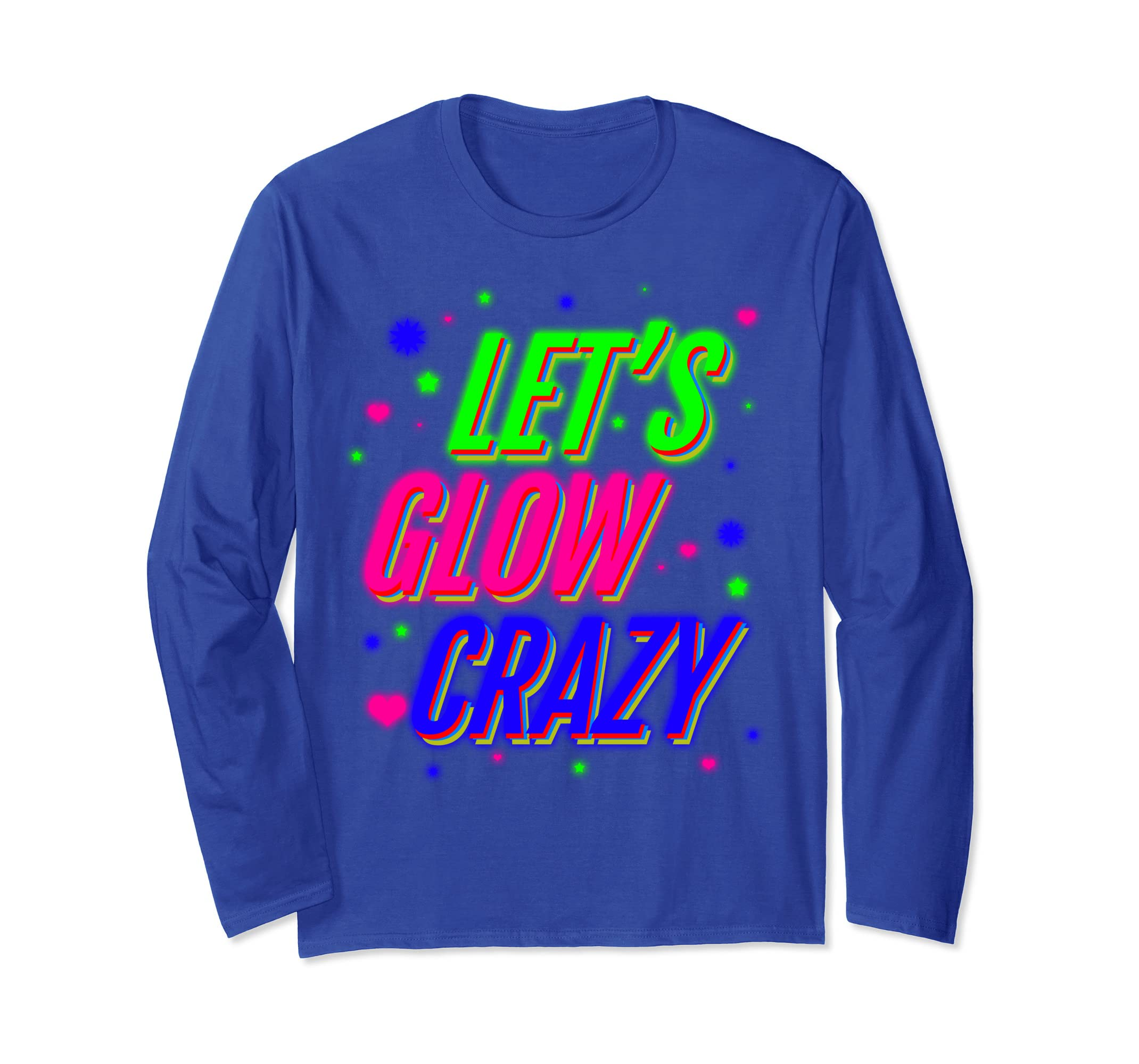Amazon com: 'Lets Glow Crazy 80s' Awesome Eighties Vintage Shirt