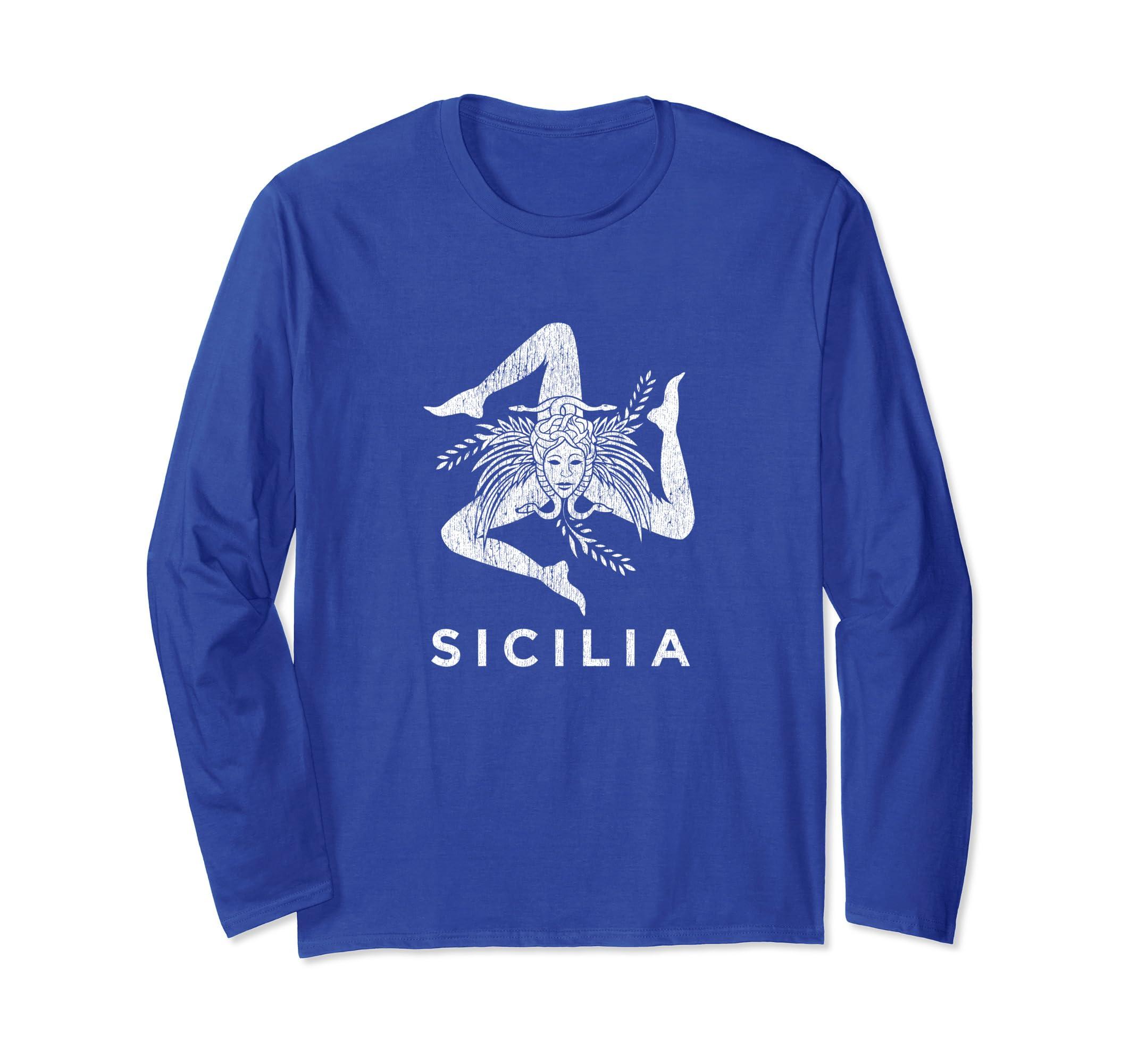 Sicilian Pride – Sicilia – Sicilian Flag Trinacria Faded-Teehay