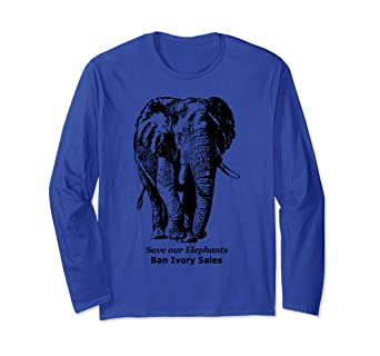 91e4a1bf6 Image Unavailable. Image not available for. Color  Save Elephants Long  Sleeve T-shirt ...