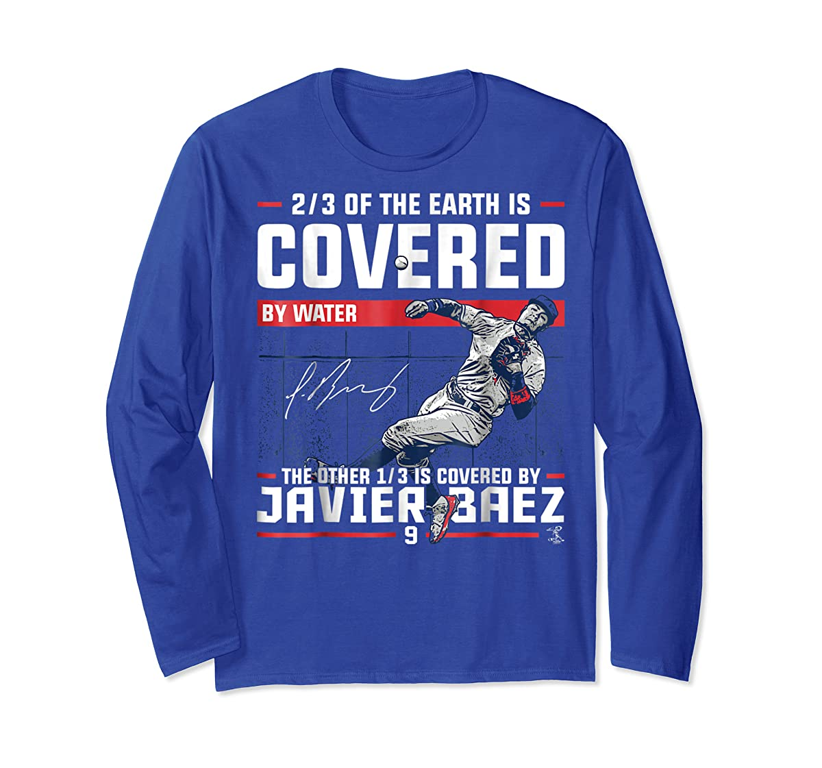 Javier Baez Covered By T-Shirt - Apparel-Long Sleeve-Royal