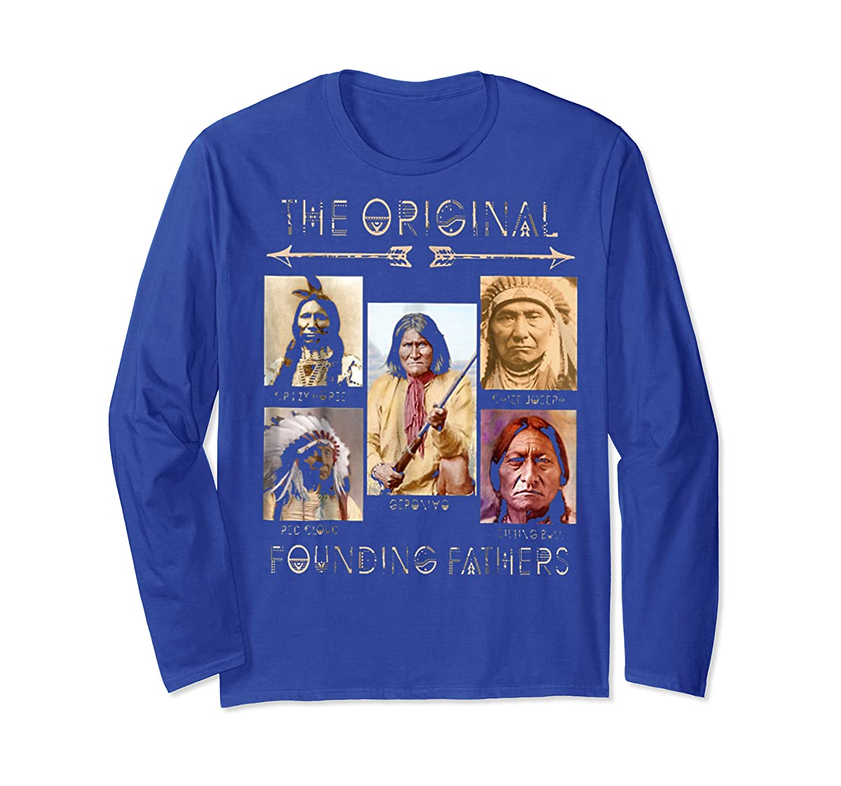 the original founding fathers native classic shirt-Long Sleeve-Royal
