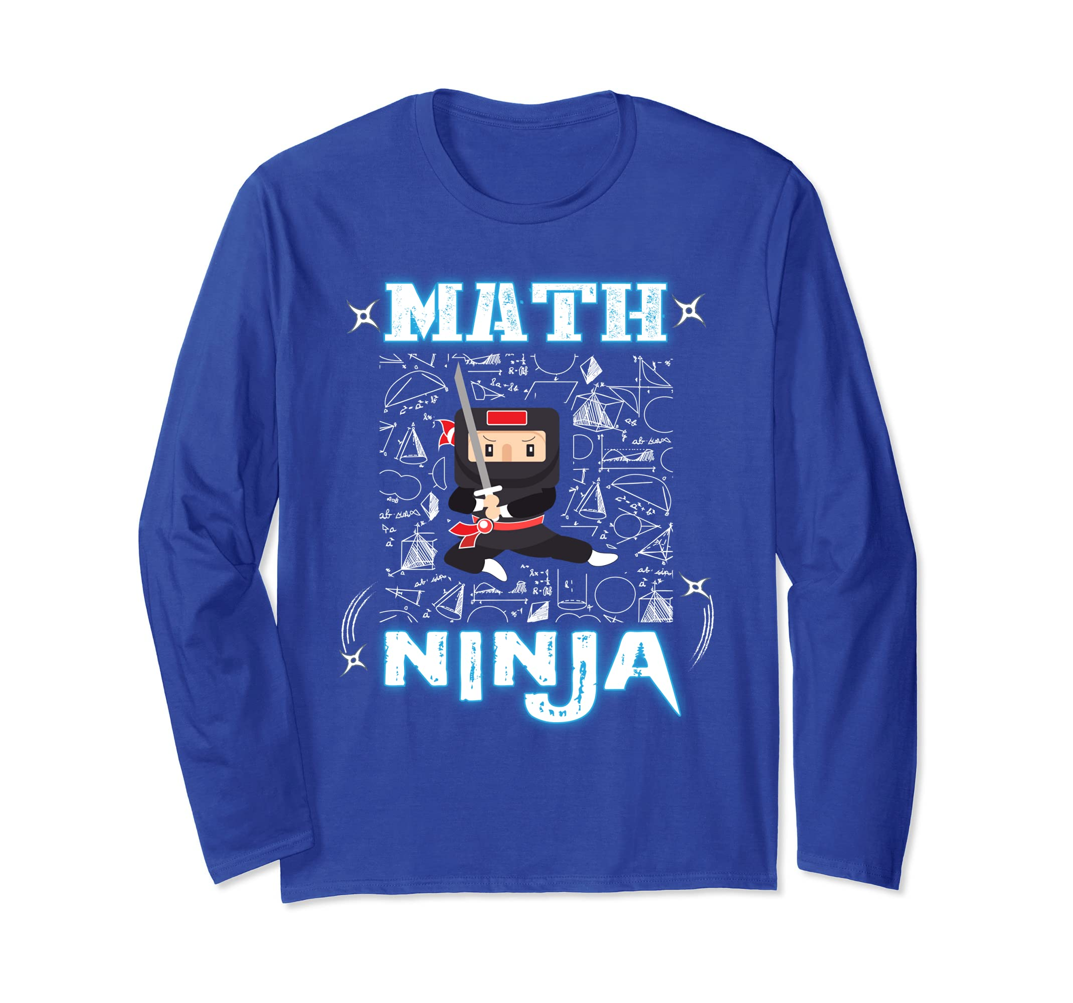 Amazon.com: Real Math Ninja - Cool Maths Long-Sleeve for ...