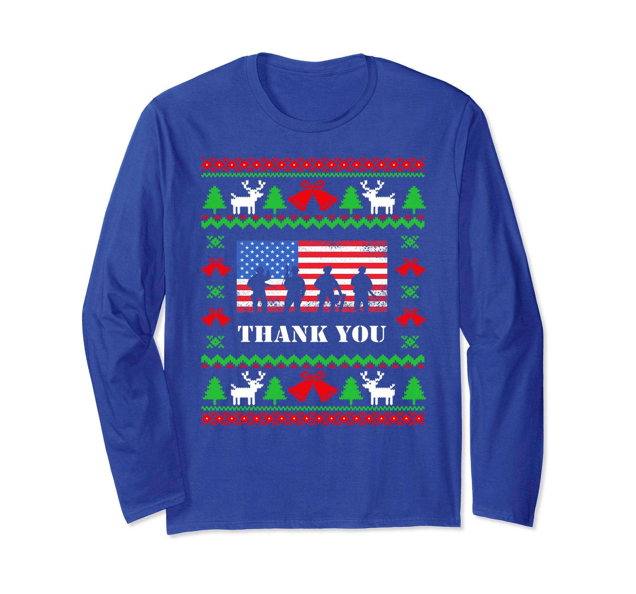 American Flag TShirts Thank you Veterans   Christmas Gift-azvn