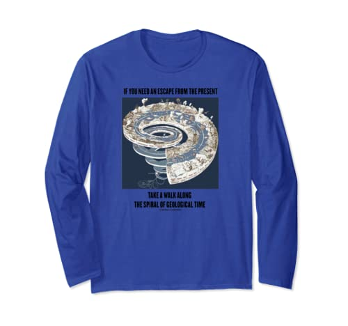 If You Need An Escape From Present Take A Walk Spiral Time Long Sleeve T Shirt