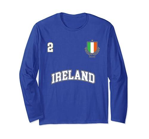 79efc34b1 Ireland Soccer Team Long Sleeve Shirt Number 2 (+Back)