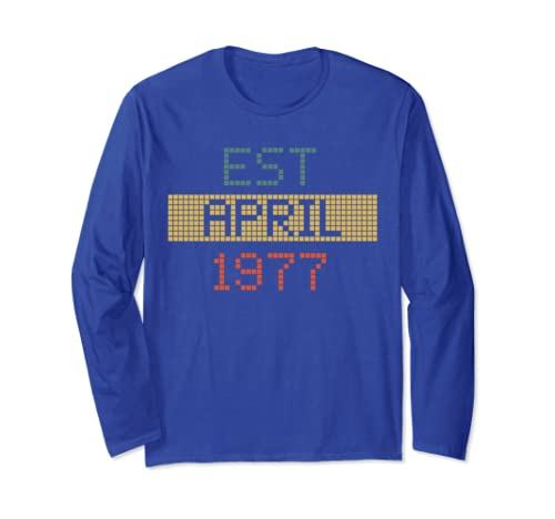 Est April 1977 Happy 42nd Birthday Long Sleeve Shirt