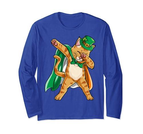 3a891a9be Dabbing Cat St Patricks Day T Shirt Men Leprechaun Irish Dab