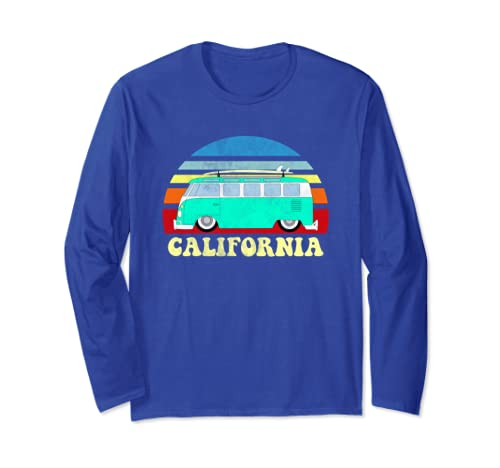 47def709 Amazon.com: California Bus Van Beach Vans Surfer Long Sleeve Shirt ...