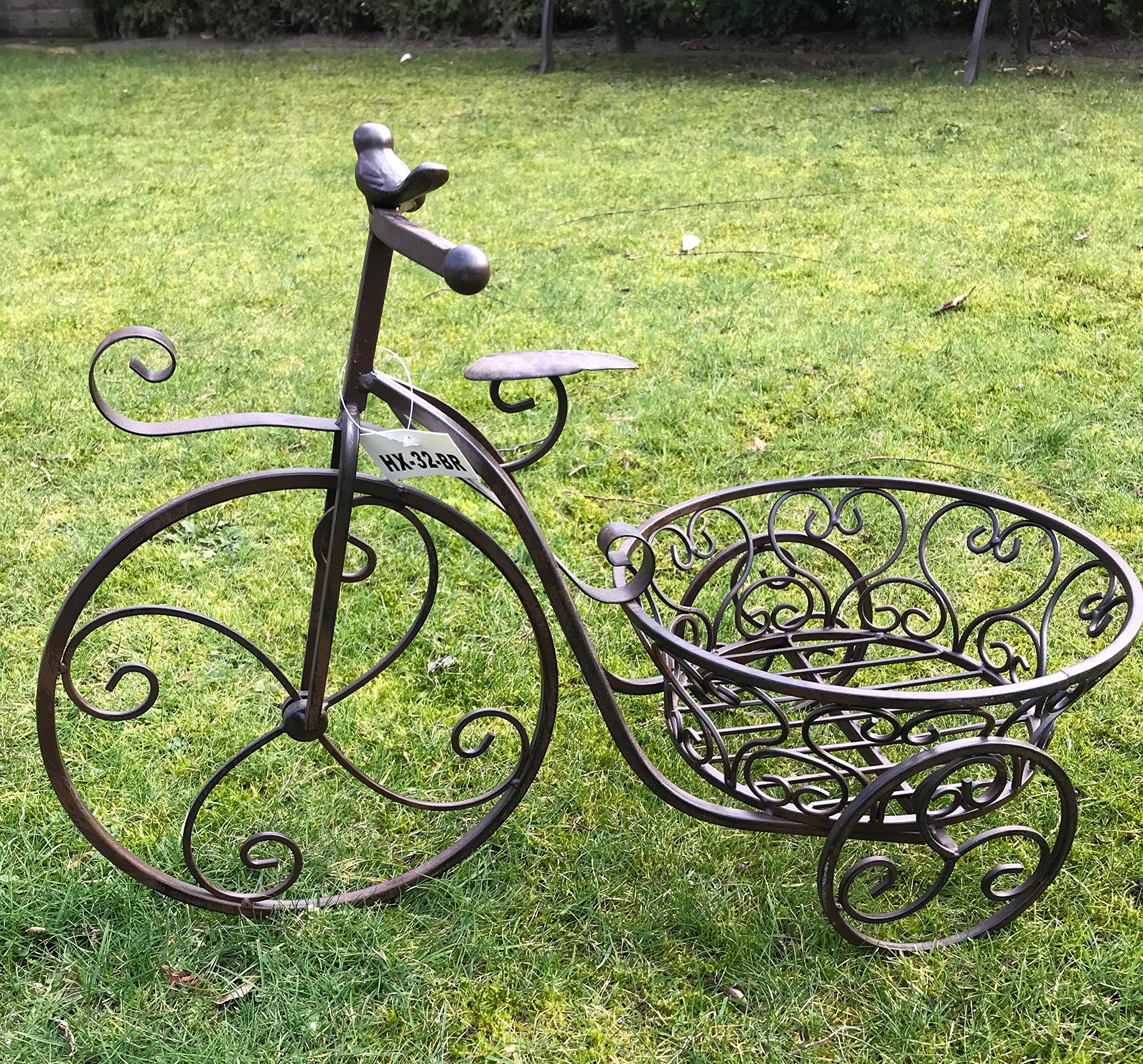 Moritz® Macetero bicicleta soporte de macetas cesta 55 x 37 x 27 ...